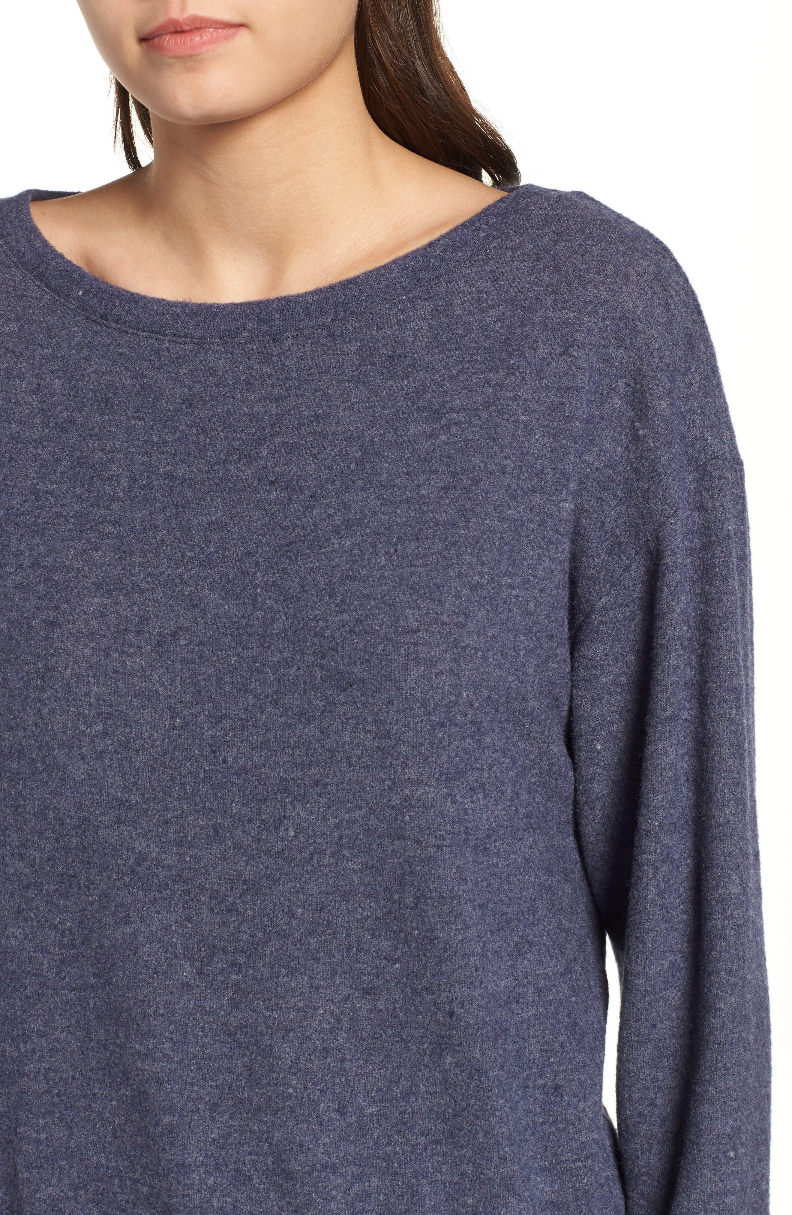 Keys Sweatshirt,                             Alternate thumbnail 4, color,                             HEATHER NAVY