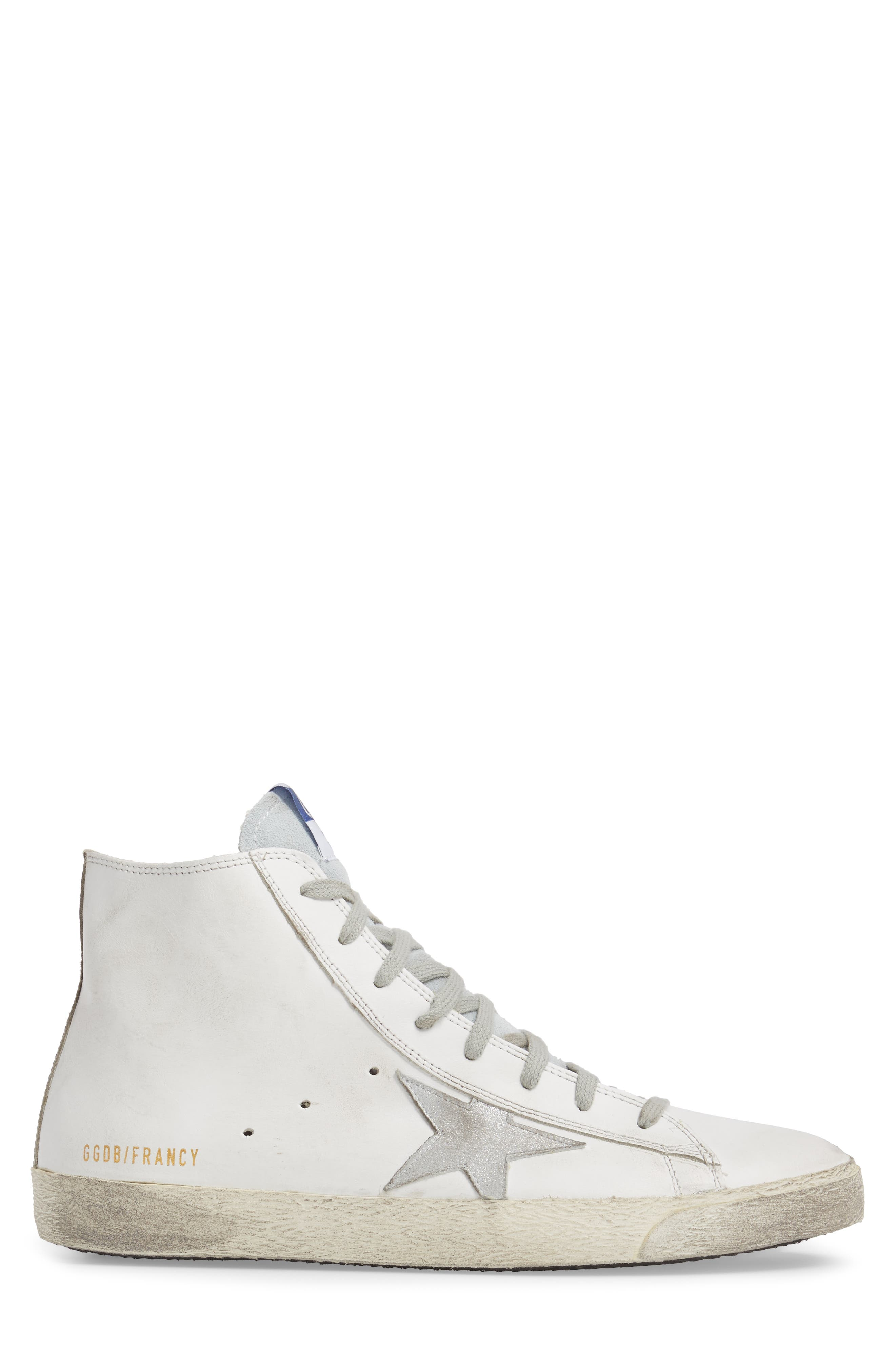 Francy High Top Sneaker,                             Alternate thumbnail 3, color,                             100