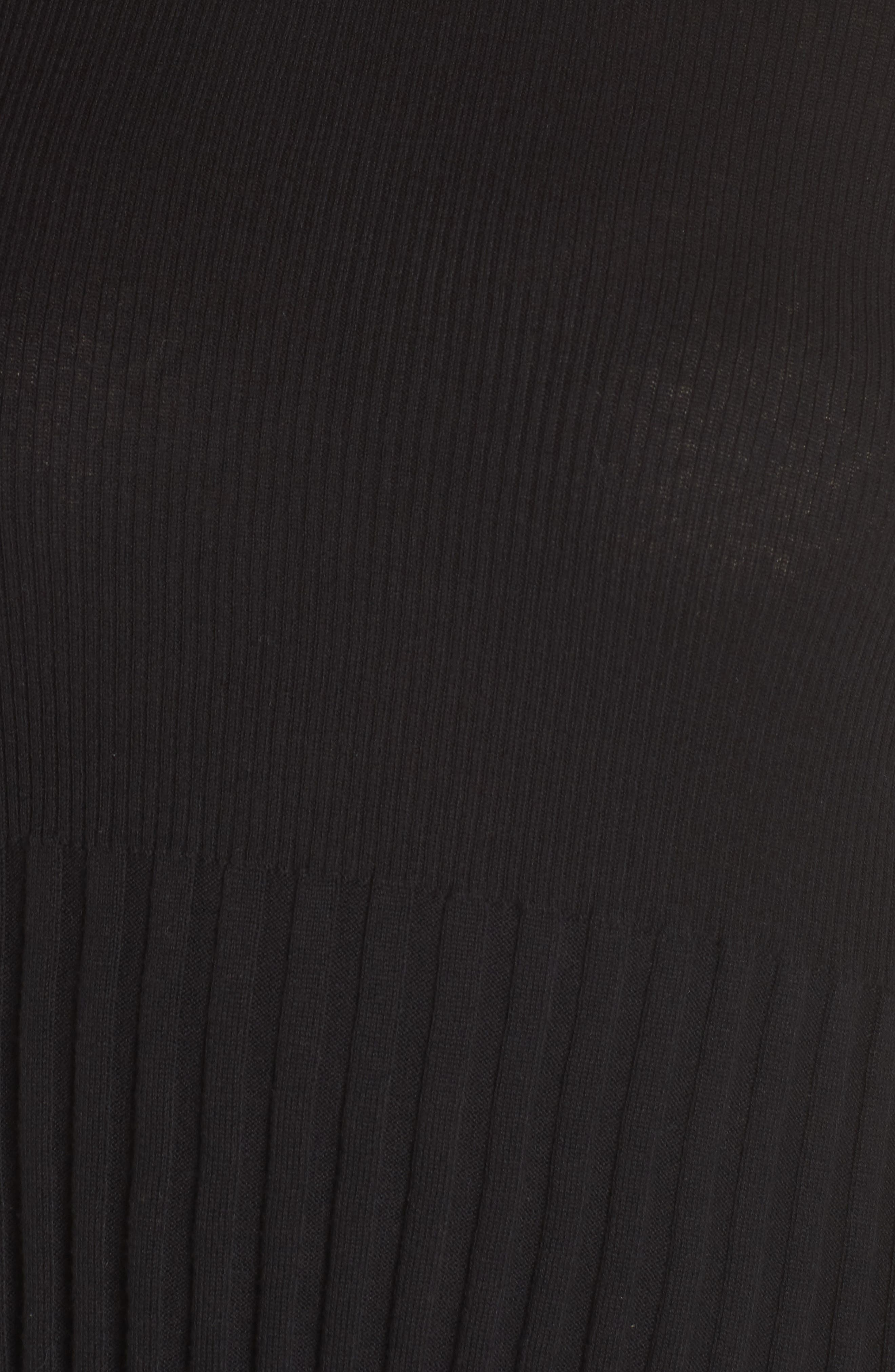 Ribbed Cotton Blend Sweater,                             Alternate thumbnail 6, color,                             001