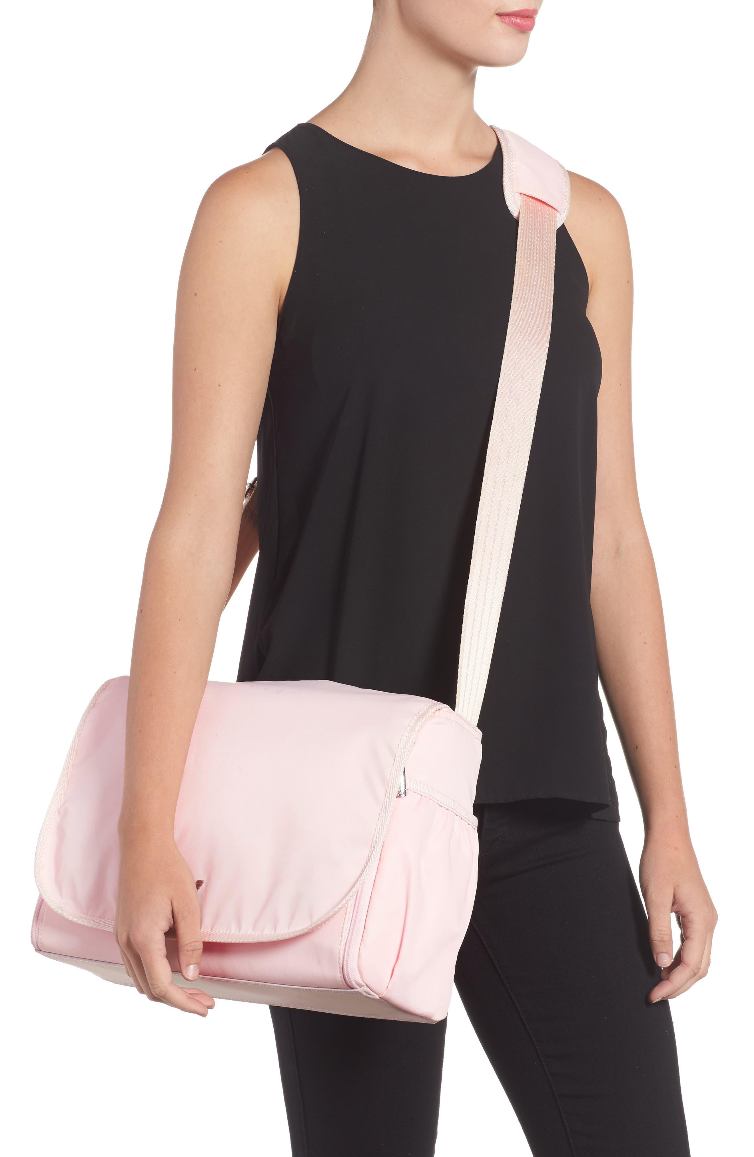 Nylon Messenger Diaper Bag,                             Alternate thumbnail 8, color,