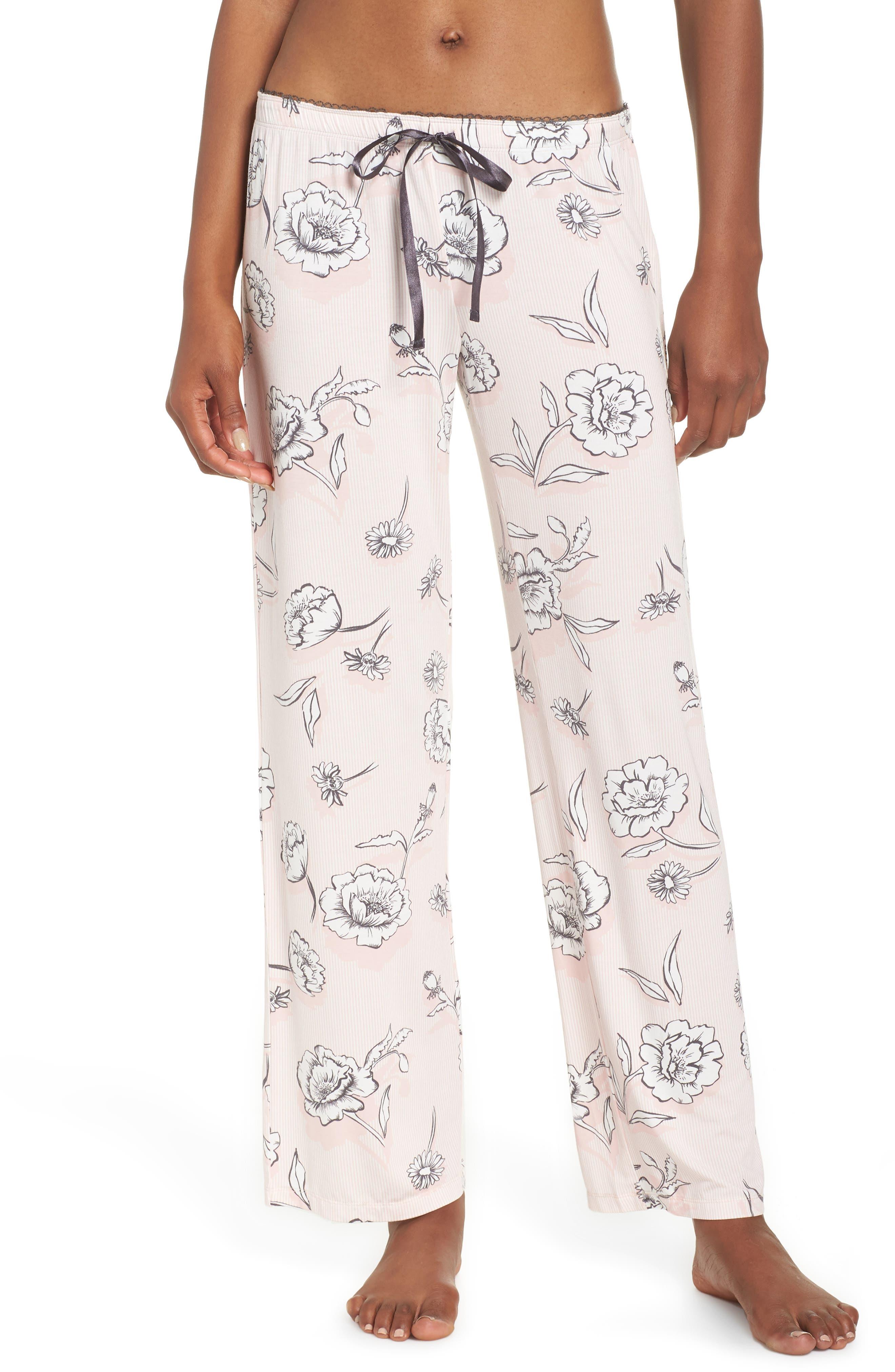 Floral Pajama Pants,                             Main thumbnail 1, color,                             650