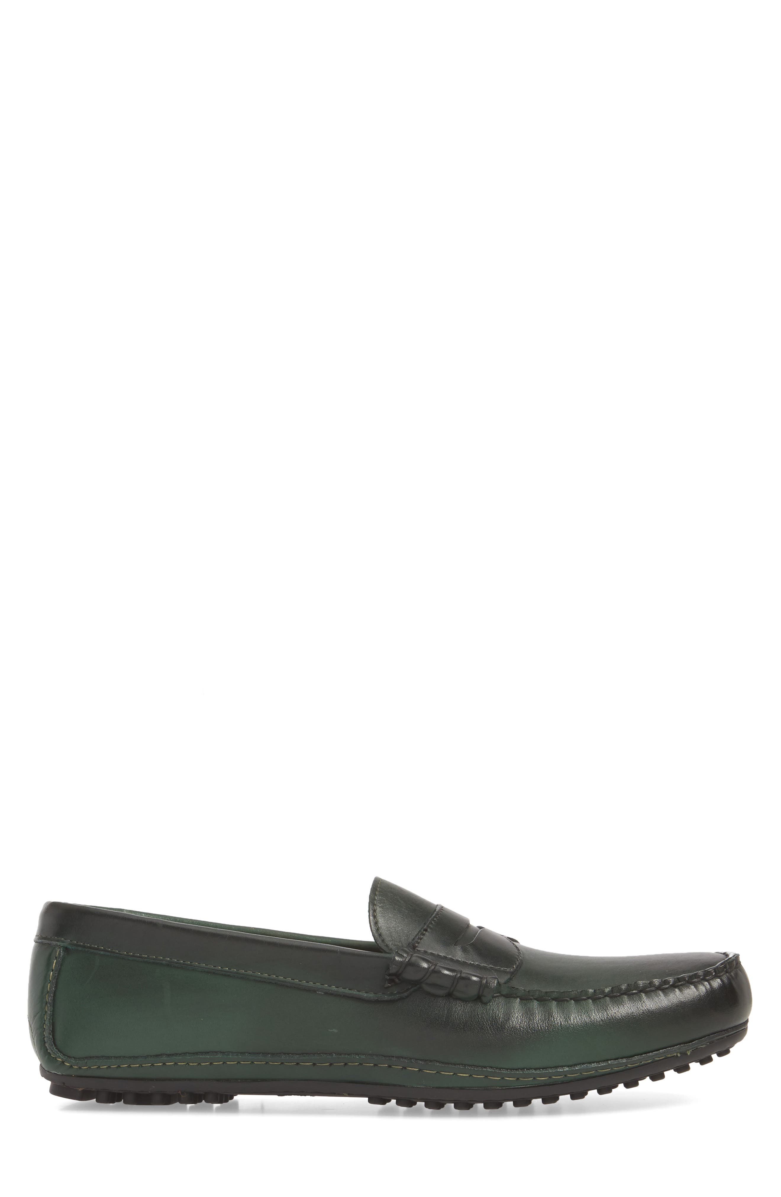 Siesta Key Penny Loafer,                             Alternate thumbnail 3, color,                             GREEN LEATHER