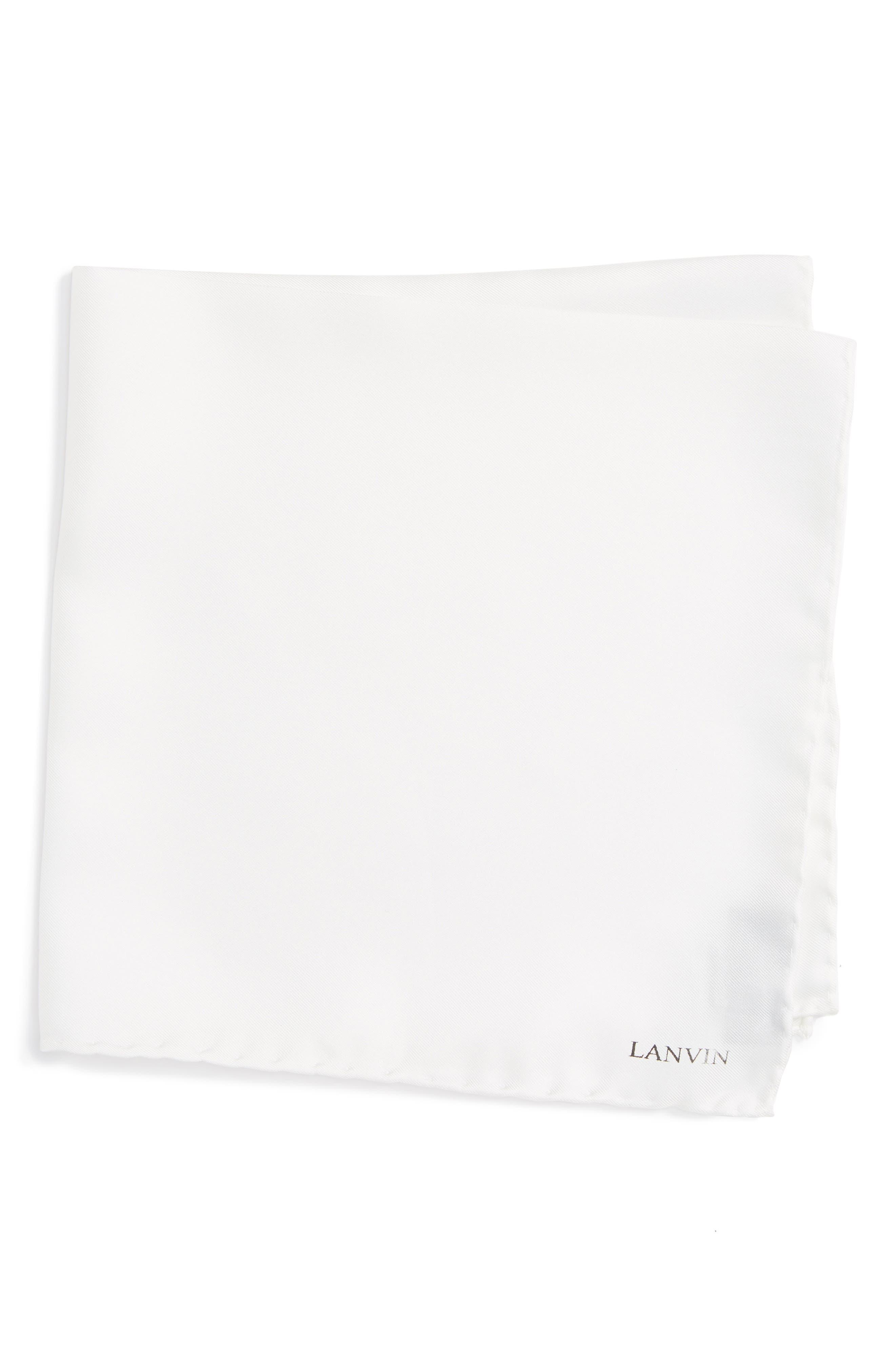 Solid Silk Pocket Square,                             Main thumbnail 3, color,