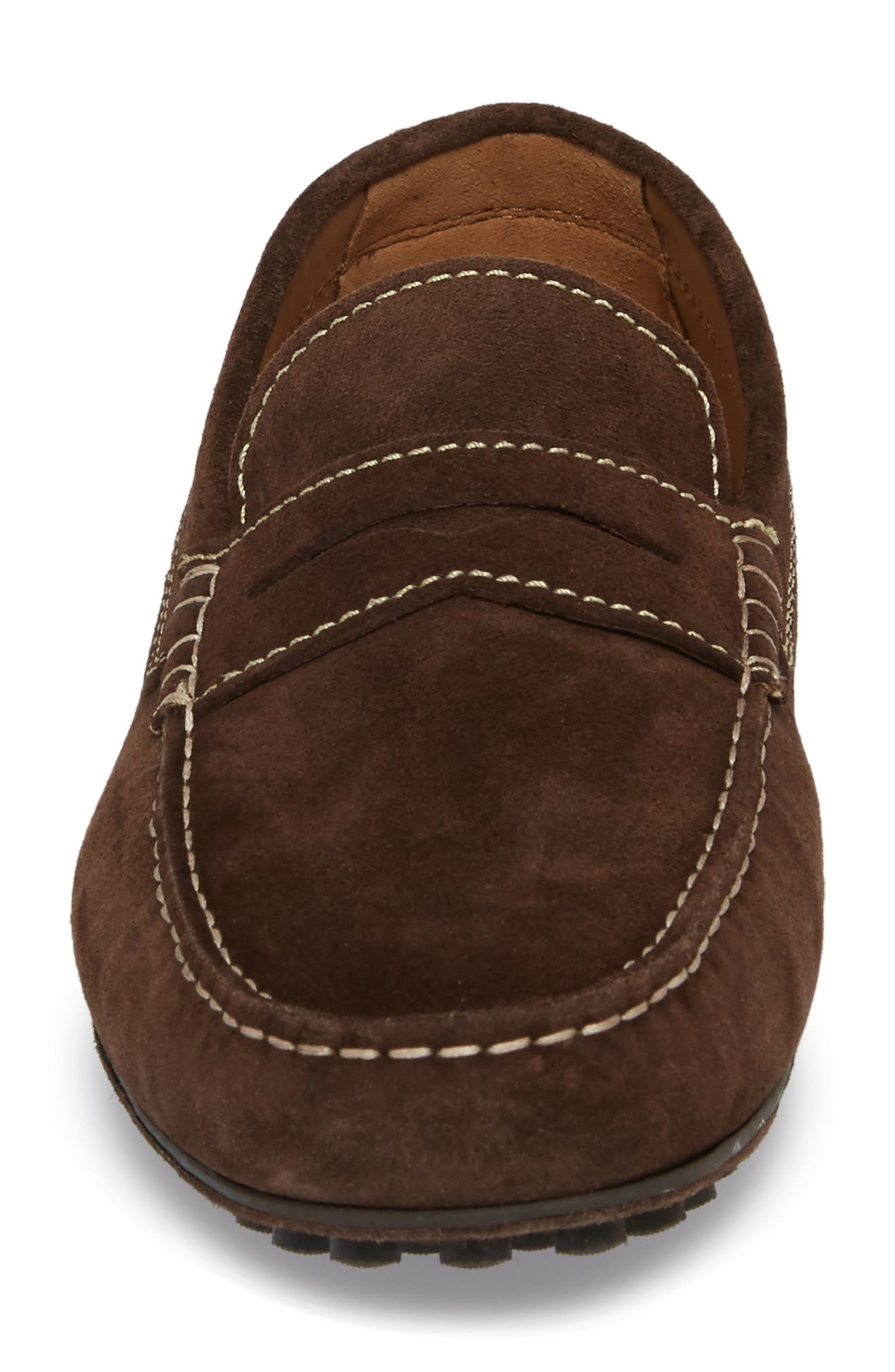 Le Mans Penny Driving Loafer,                             Alternate thumbnail 4, color,                             CHOCOLATE