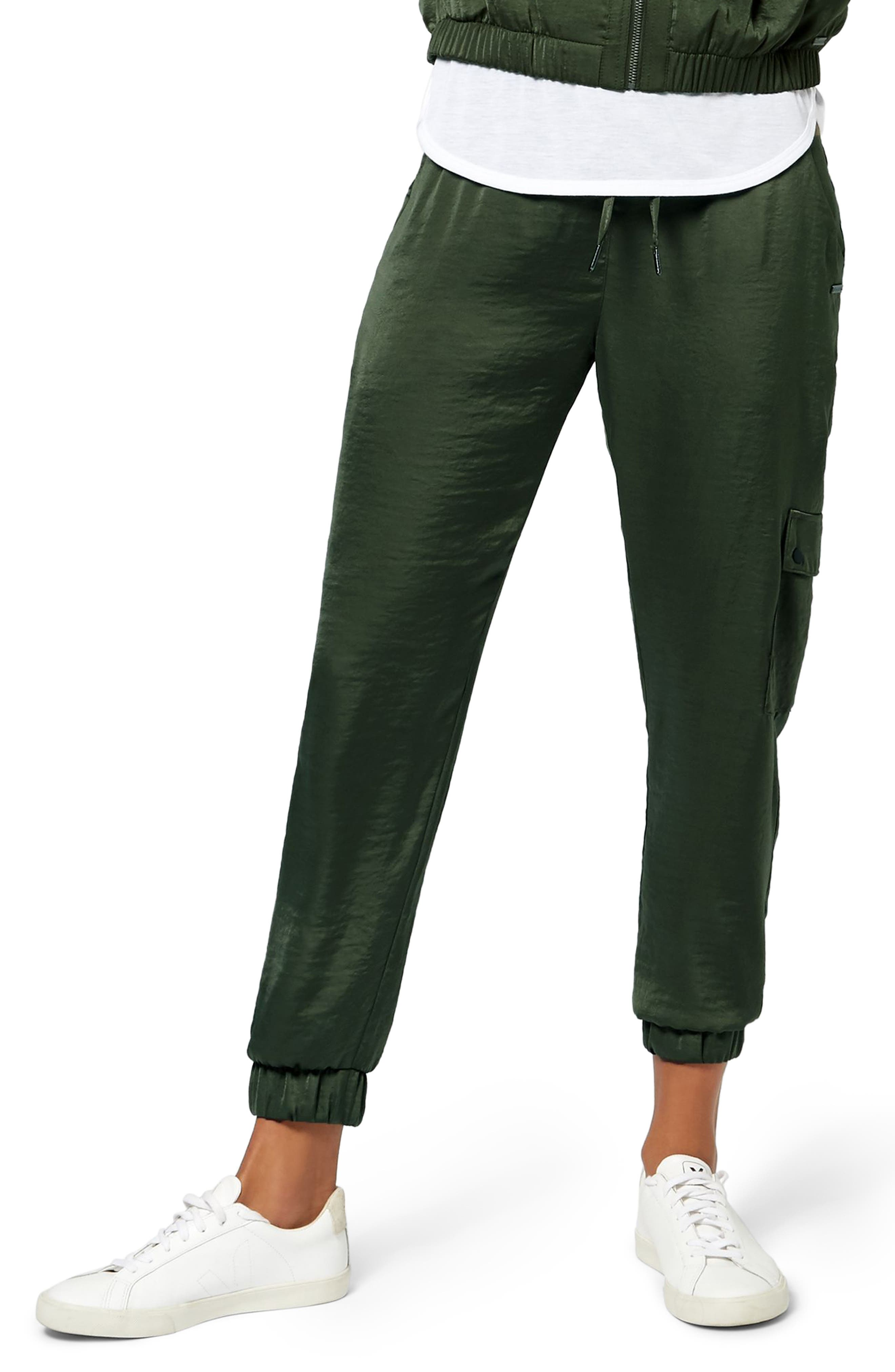 Cargo Luxe Ankle Pants,                         Main,                         color, OLIVE