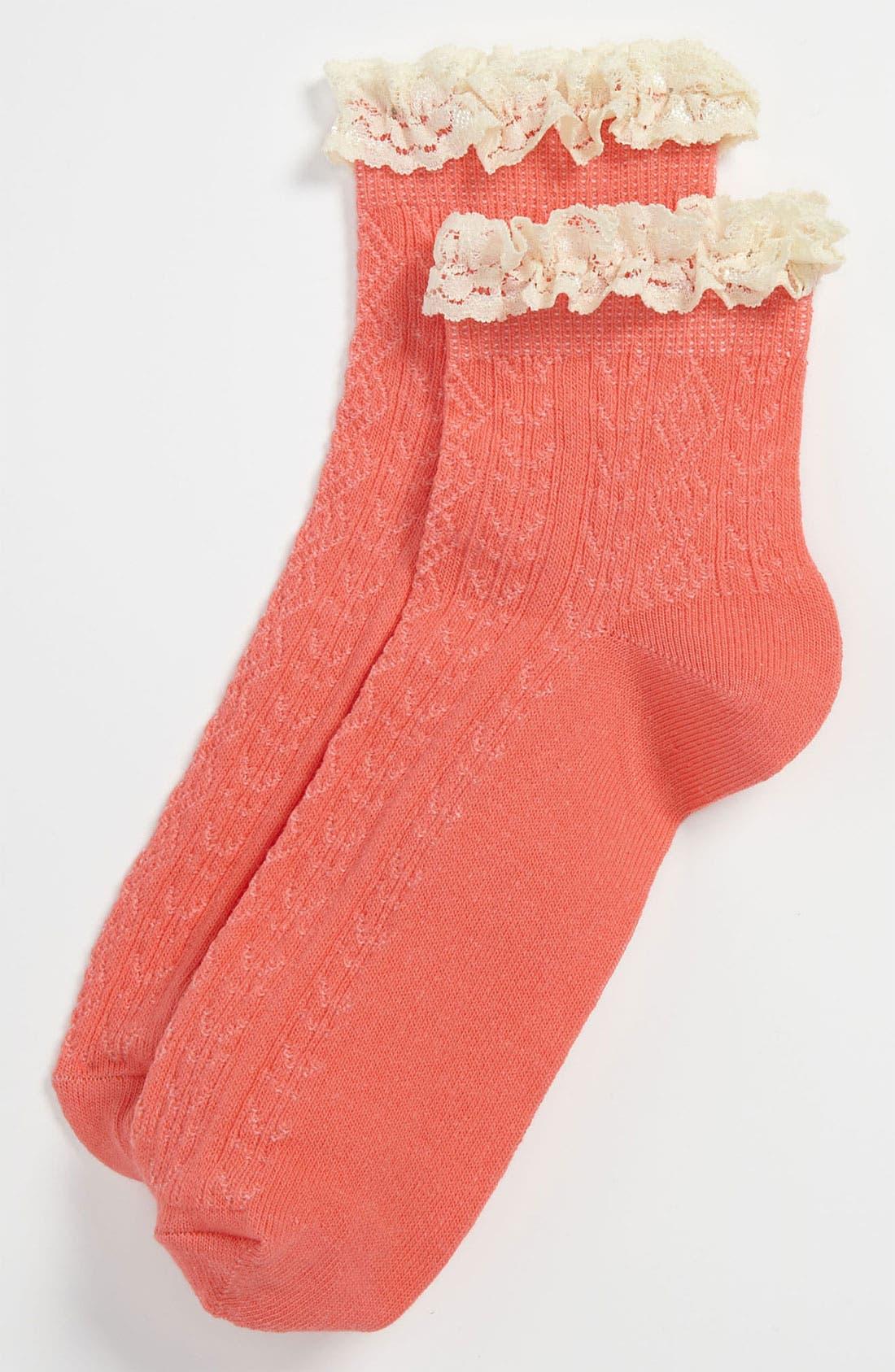 Lace Trim Ankle Socks,                             Main thumbnail 30, color,