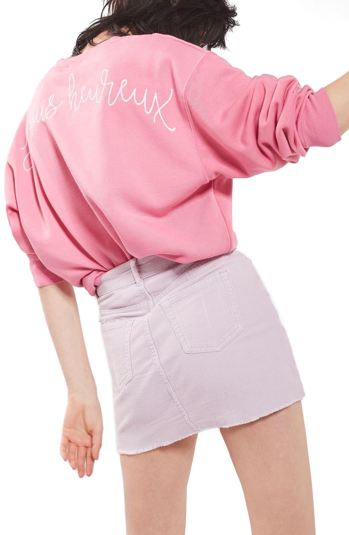 High Rise Corduroy Miniskirt,                             Alternate thumbnail 2, color,                             530
