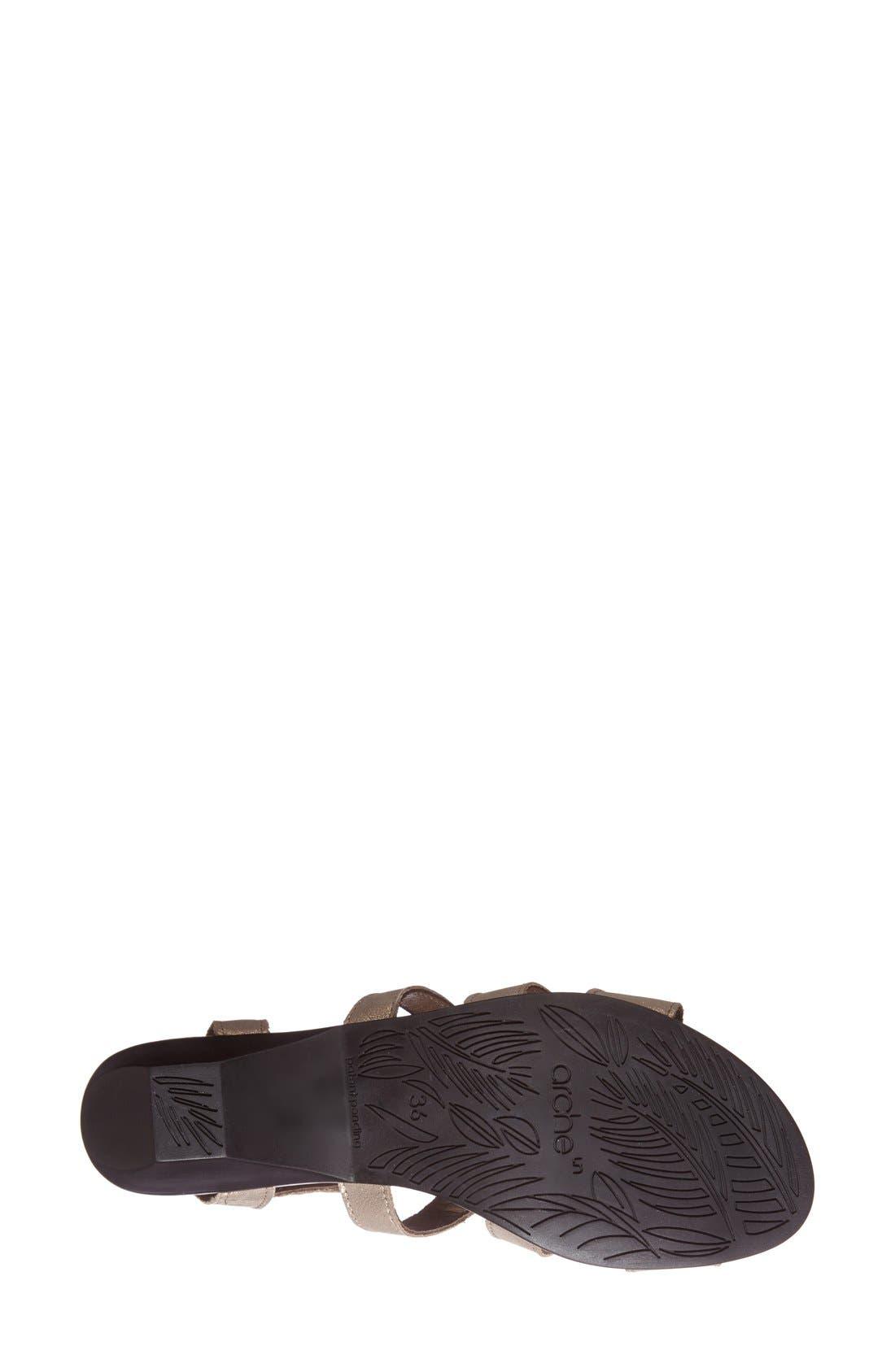 'Obela' Water Resistant Leather Sandal,                             Alternate thumbnail 21, color,