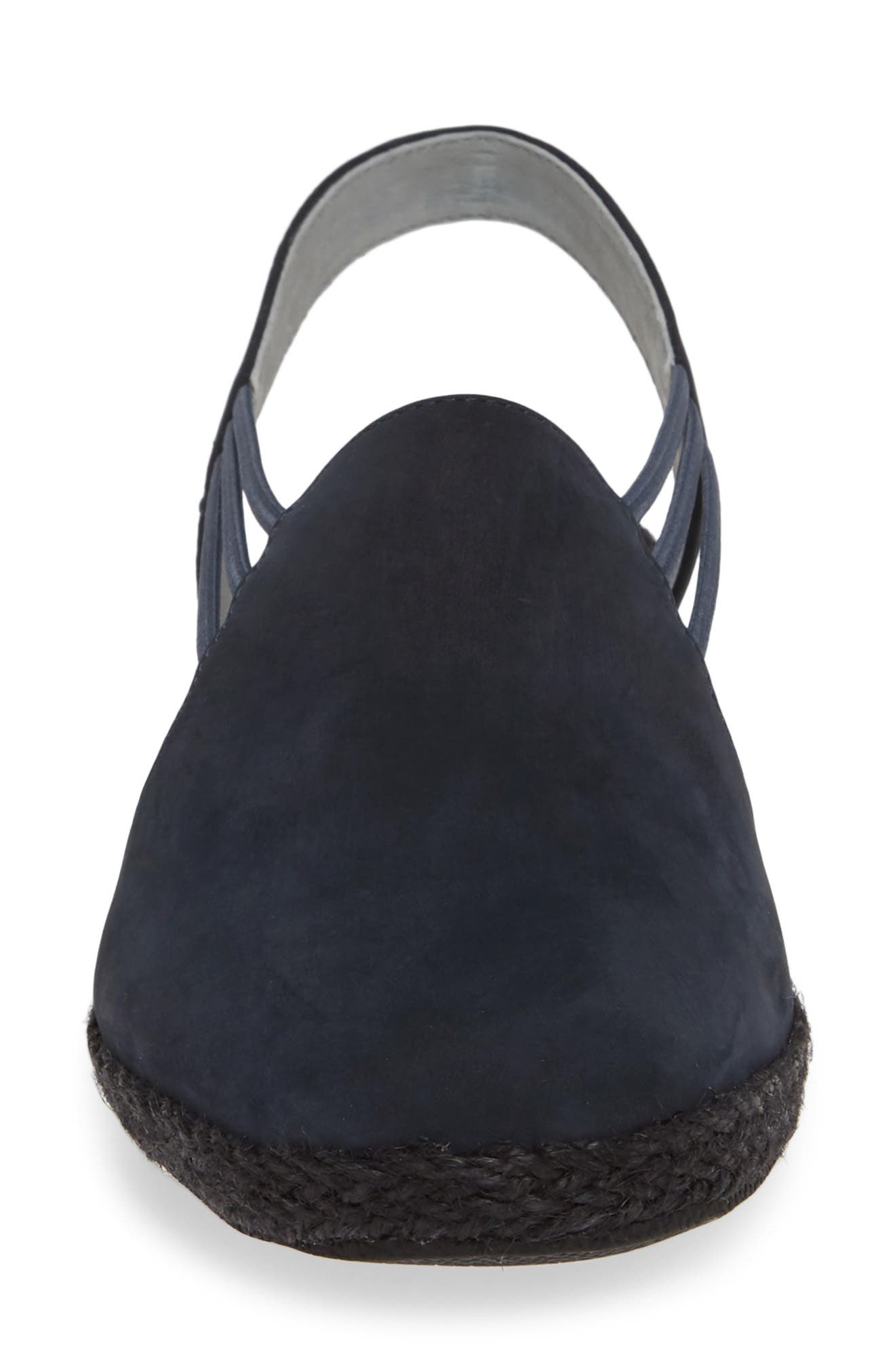 DAVID TATE,                             'Nelly' Slingback Wedge Sandal,                             Alternate thumbnail 4, color,                             NAVY NUBUCK LEATHER