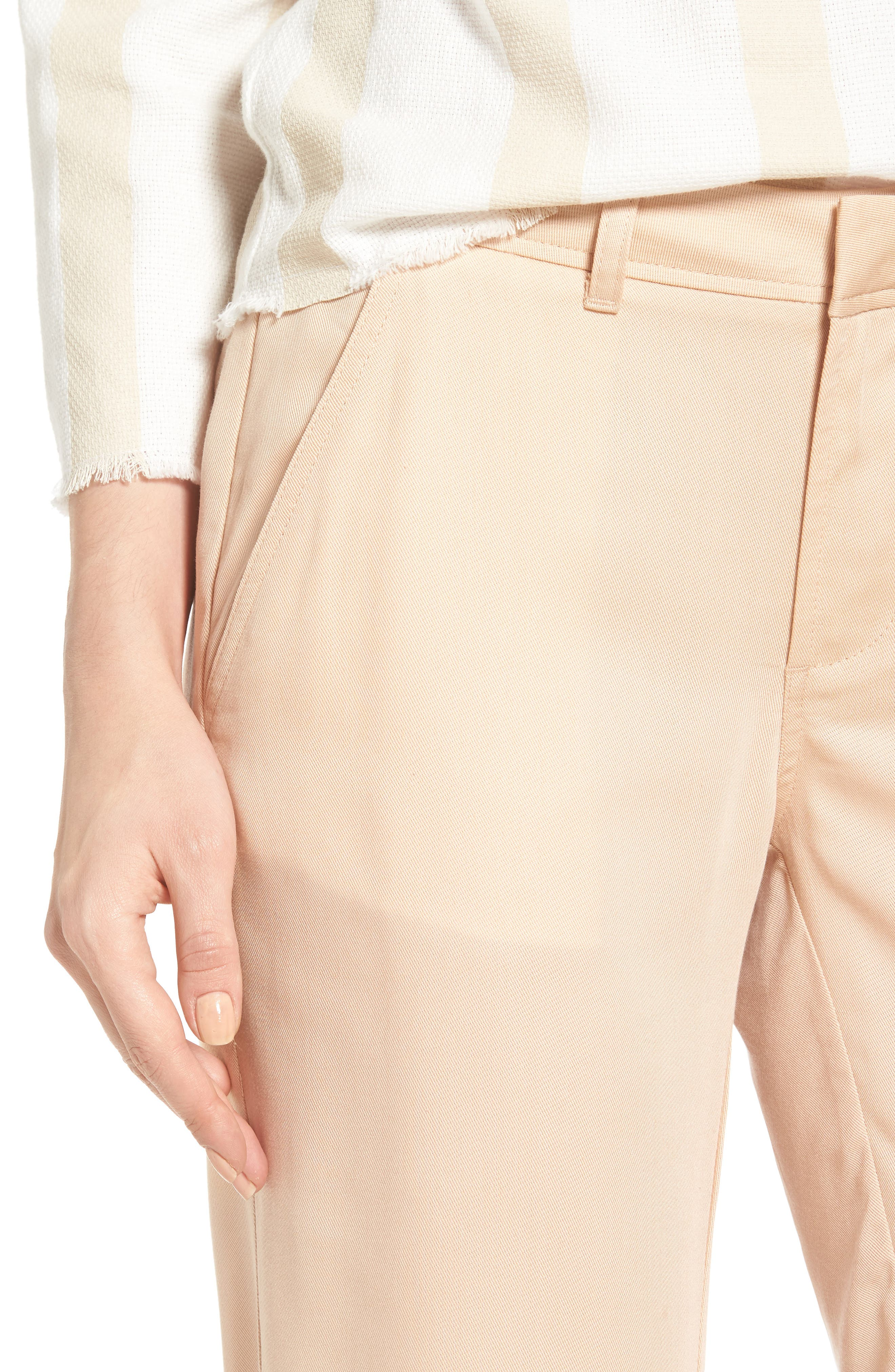 Ruffle Ankle Trousers,                             Alternate thumbnail 4, color,