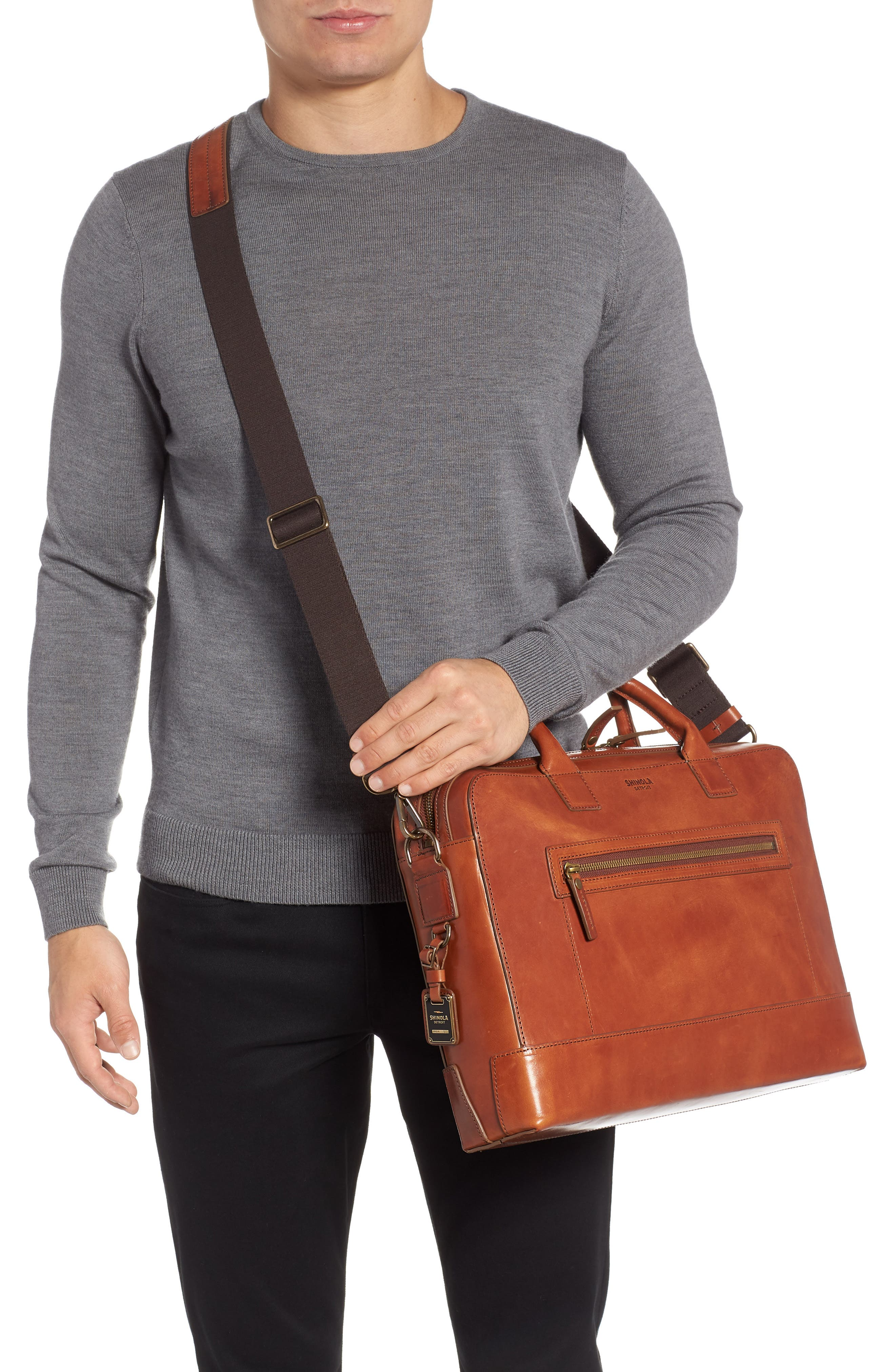 Harness Bedrock Leather Briefcase,                             Alternate thumbnail 2, color,                             220
