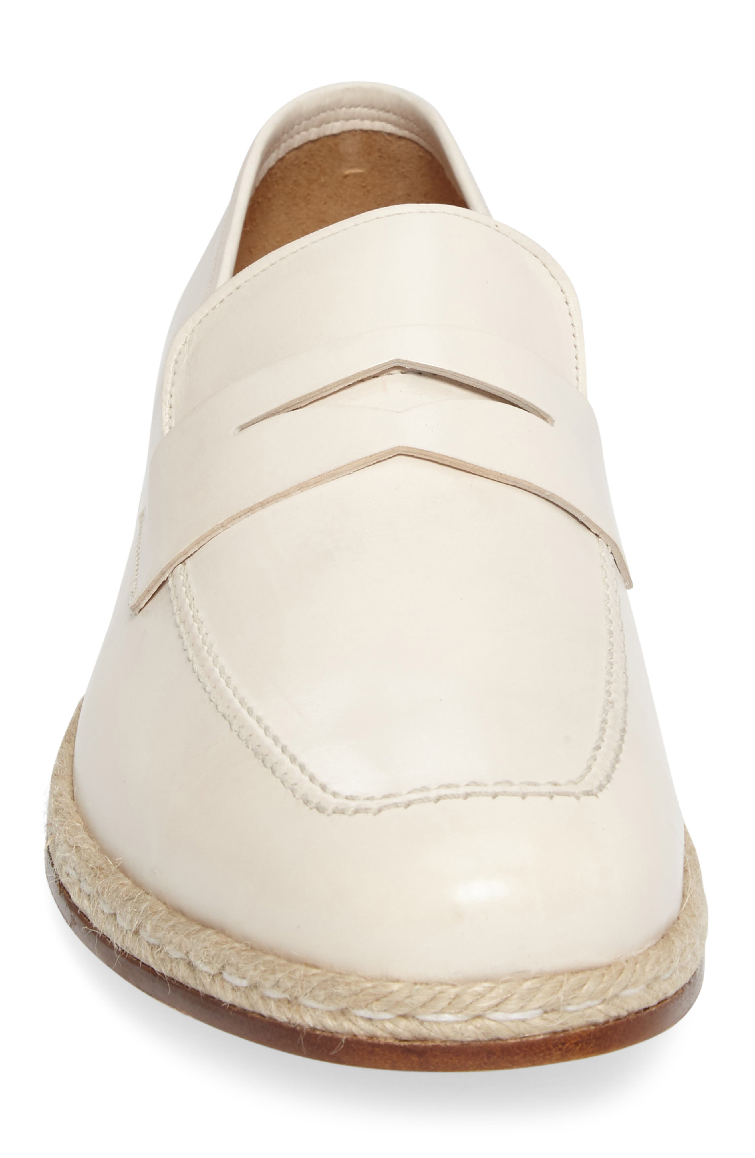 Battani Penny Loafer,                             Alternate thumbnail 4, color,                             BONE LEATHER