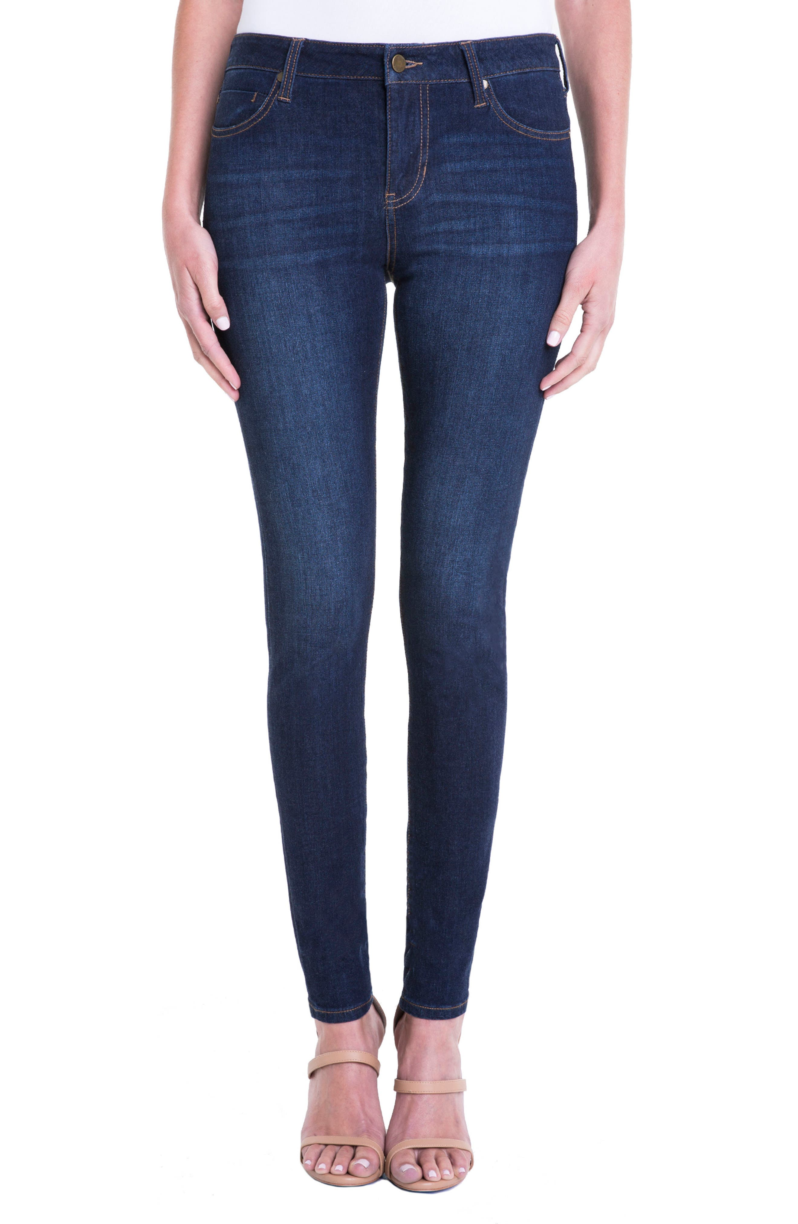 Abby Stretch Curvy Fit Skinny Jeans,                             Alternate thumbnail 2, color,                             401
