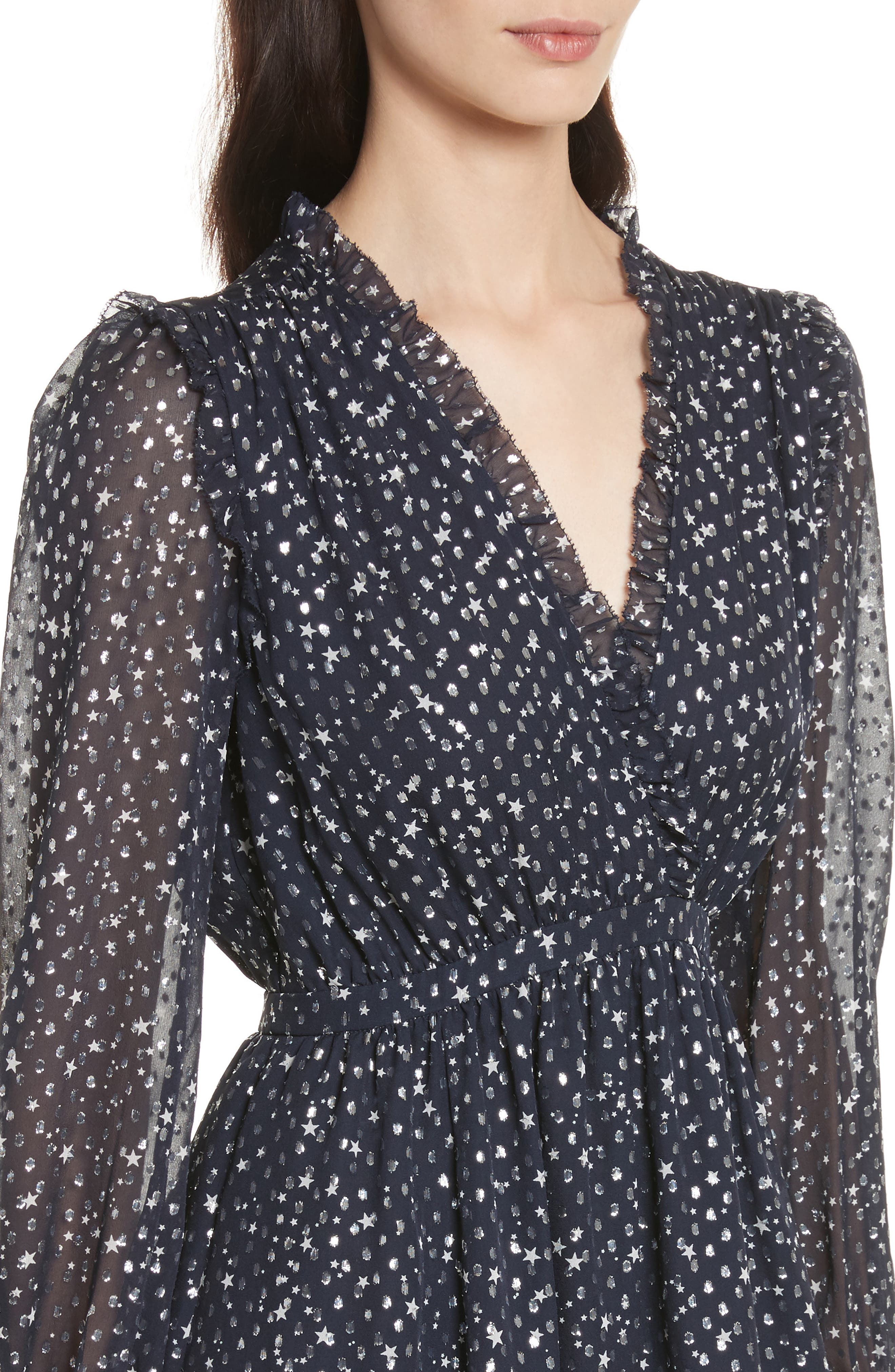 night sky dot dress,                             Alternate thumbnail 4, color,                             473