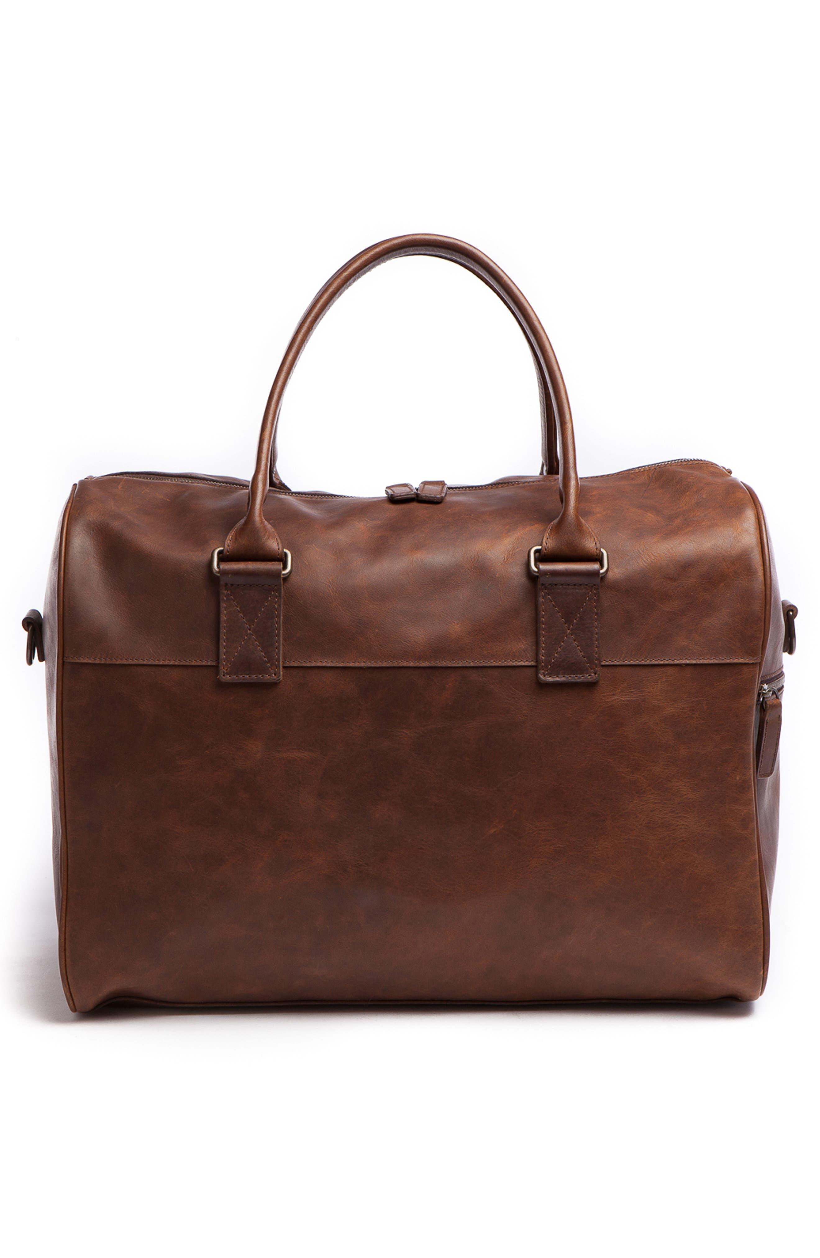 Booker Leather Duffel Bag,                             Alternate thumbnail 2, color,                             BALDWIN OAK