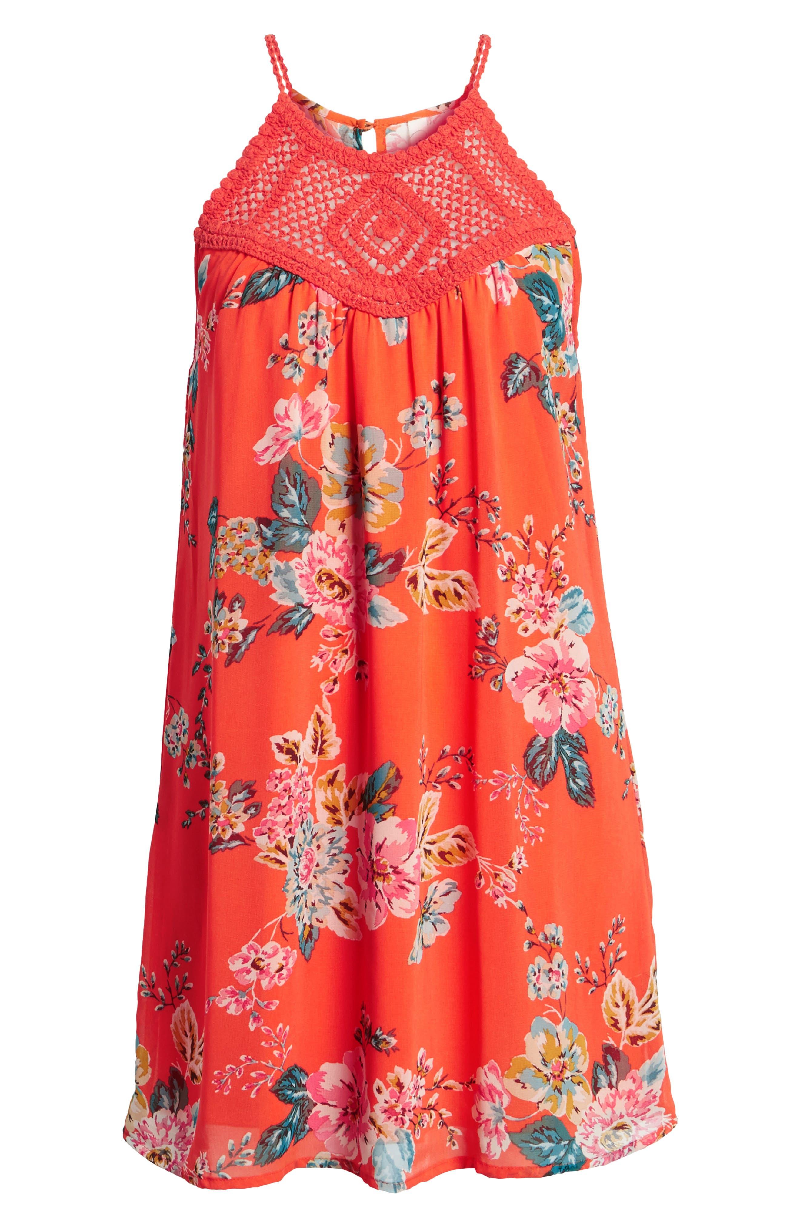 SPEECHLESS,                             Crochet Swing Dress,                             Alternate thumbnail 8, color,                             800