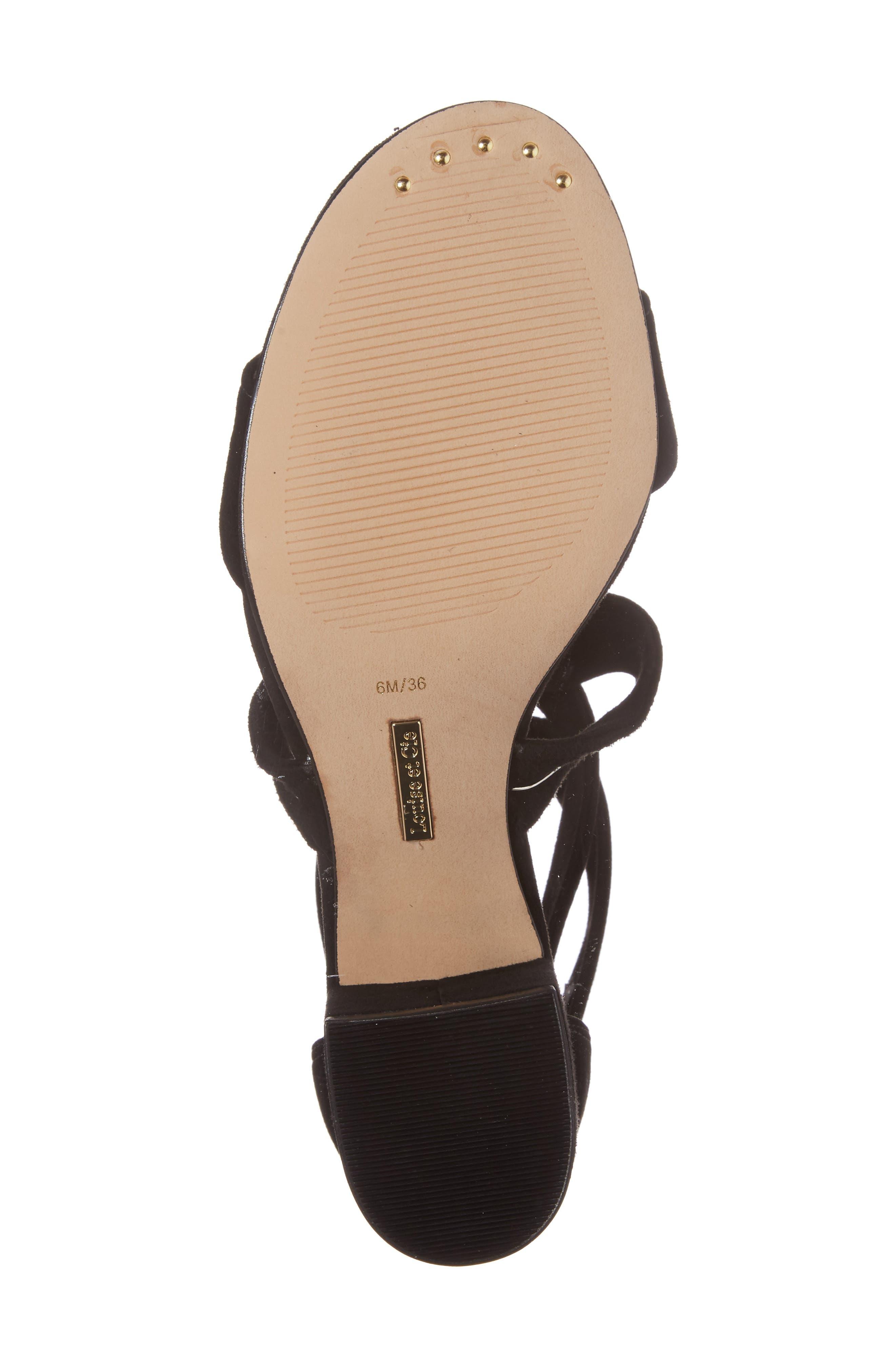 Gia Block Heel Sandal,                             Alternate thumbnail 6, color,                             001