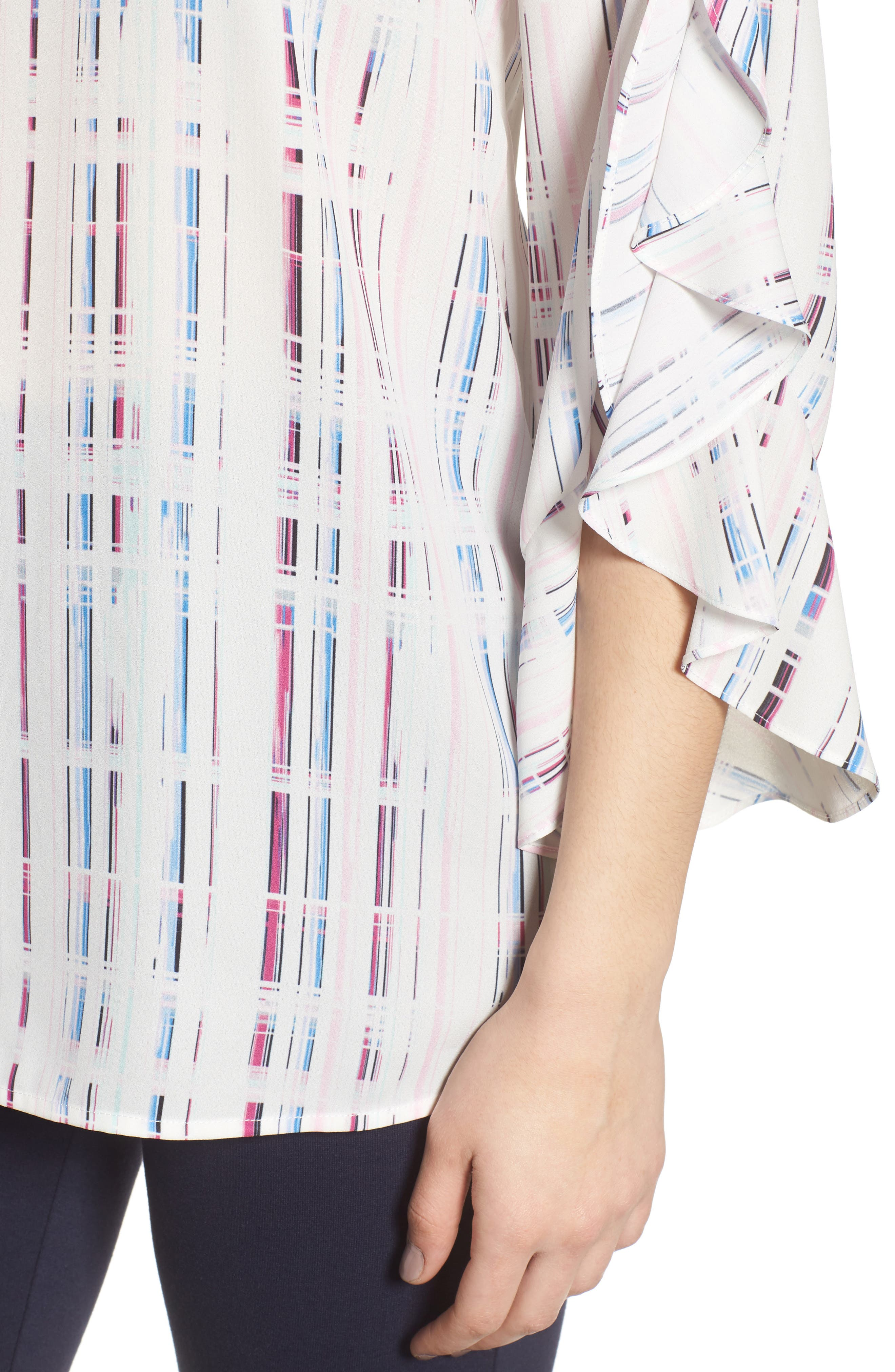 Prism Grid Print Blouse,                             Alternate thumbnail 4, color,                             900