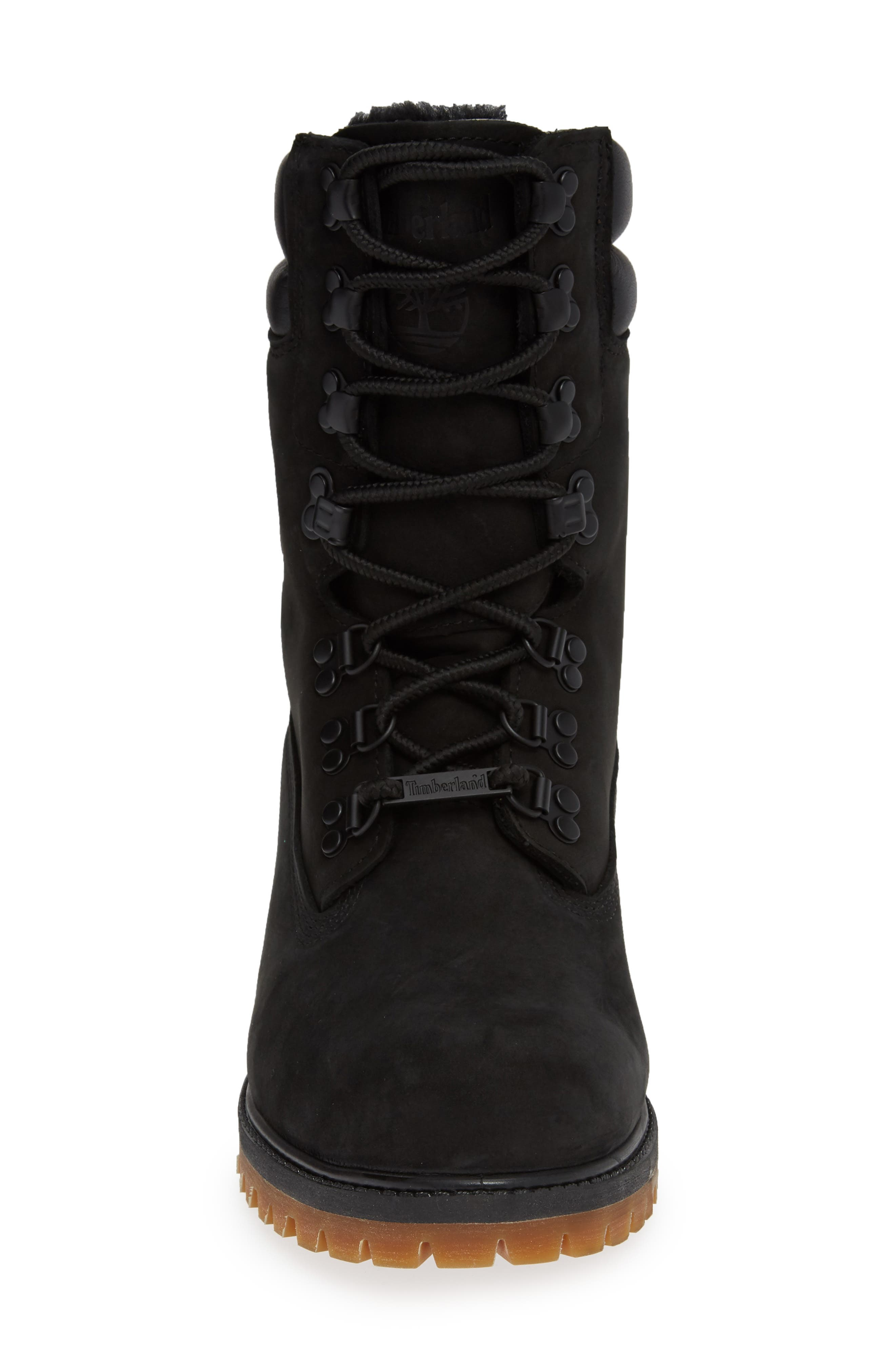 TIMBERLAND,                             Level 0 Super Boot,                             Alternate thumbnail 4, color,                             BLACK LEATHER