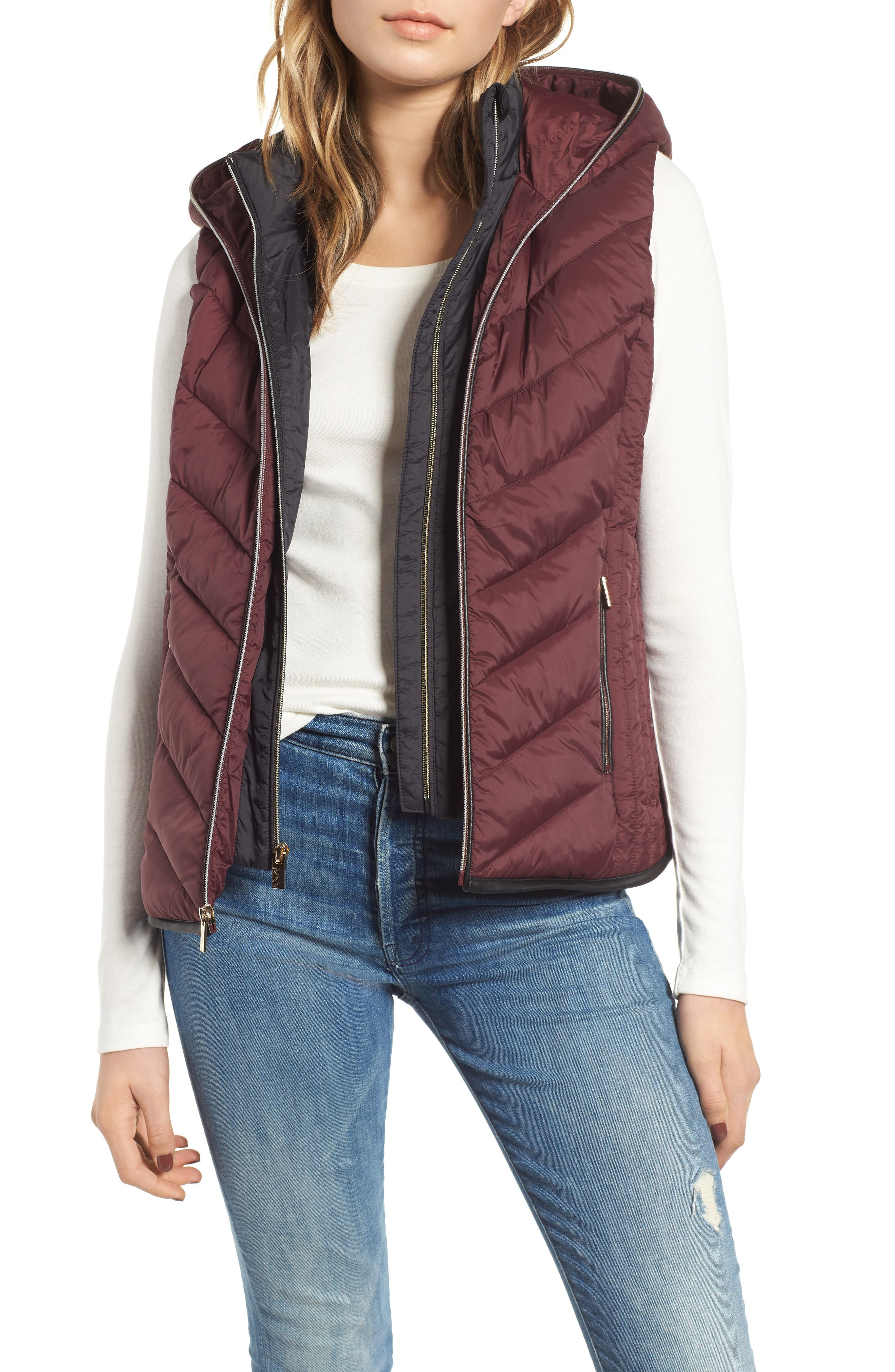 Hooded Puffer Vest,                             Main thumbnail 1, color,                             619