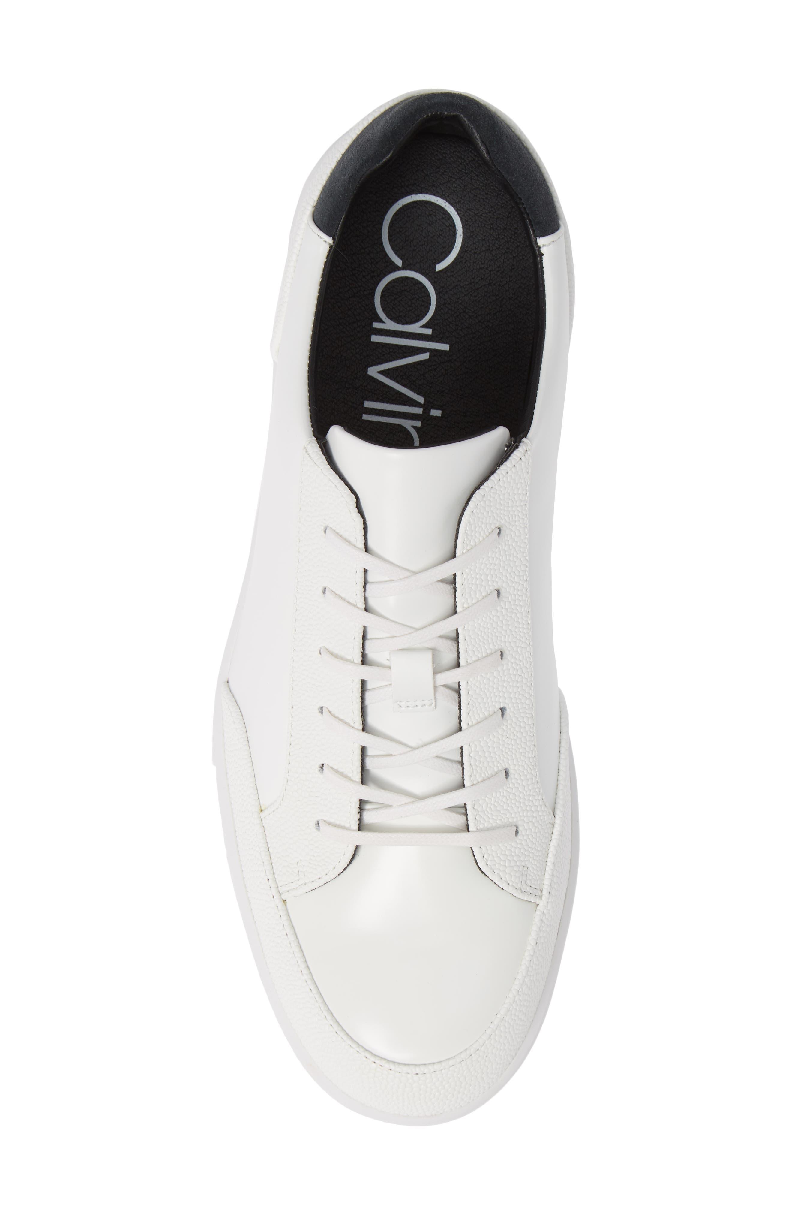 Izar Sneaker,                             Alternate thumbnail 5, color,                             WHITE LEATHER