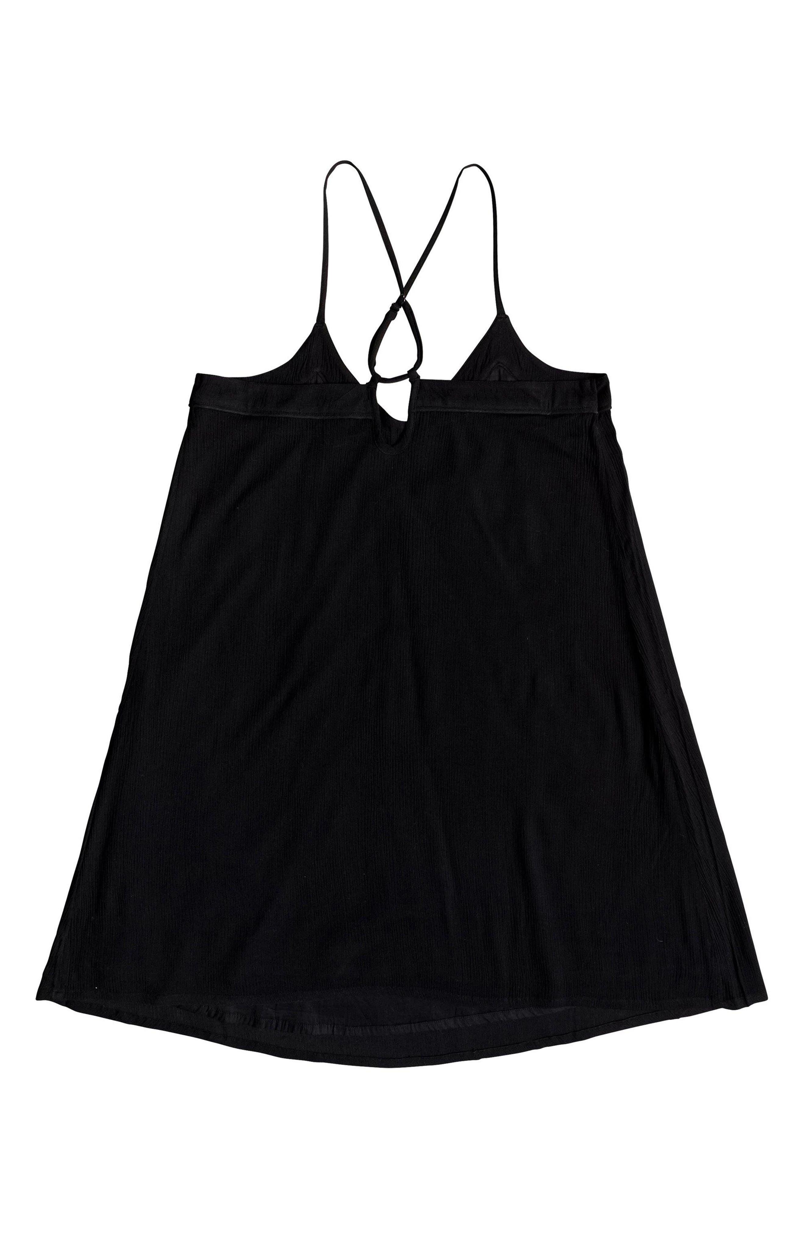ROXY,                             Off We Go Minidress,                             Alternate thumbnail 4, color,                             TRUE BLACK