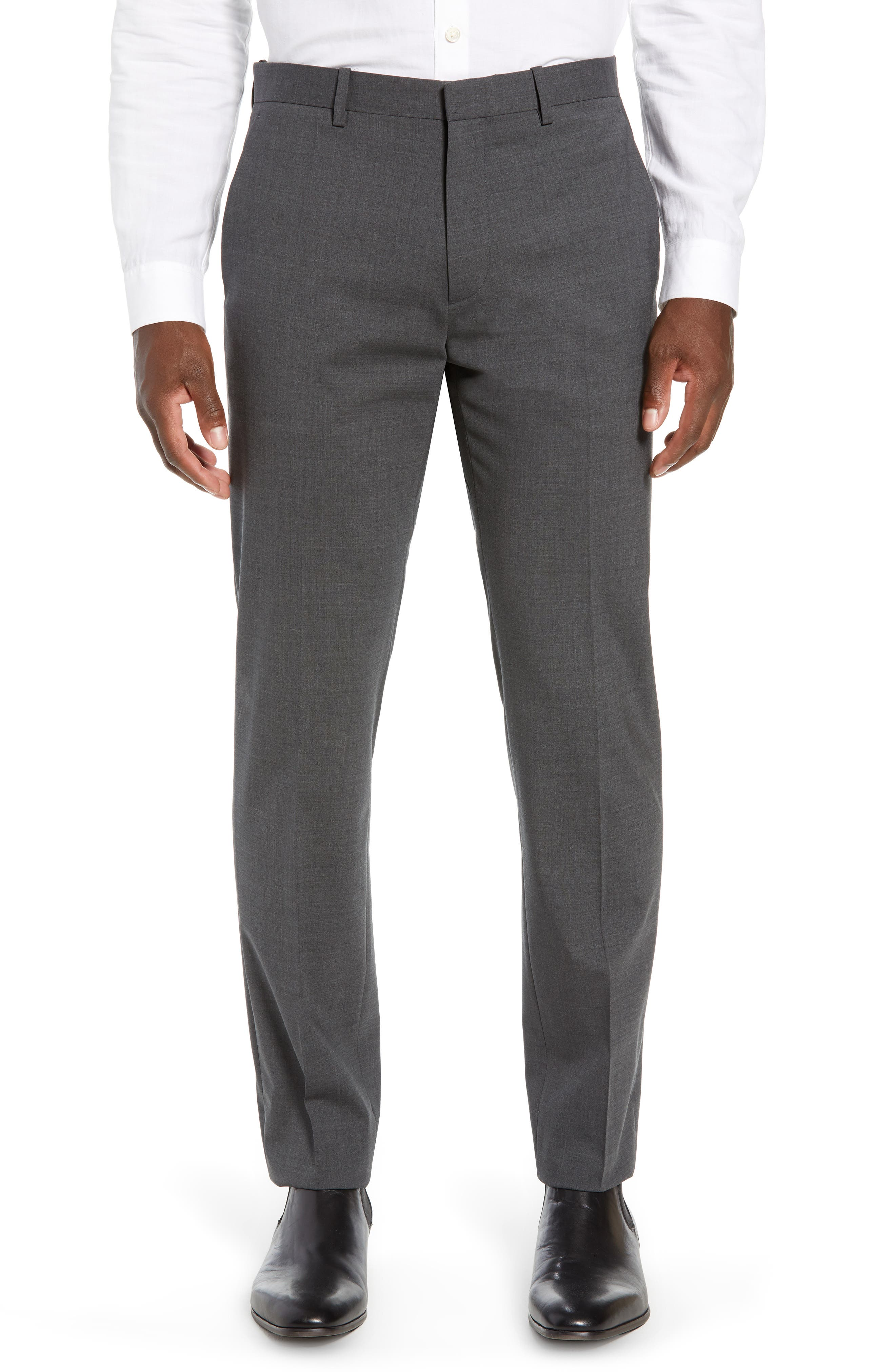 Mayer New Tailor 2 Wool Trousers,                             Main thumbnail 1, color,                             CHARCOAL