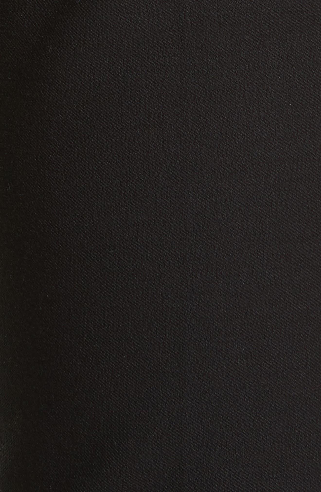 Flare Leg Stretch Cotton Pants,                             Alternate thumbnail 5, color,                             001