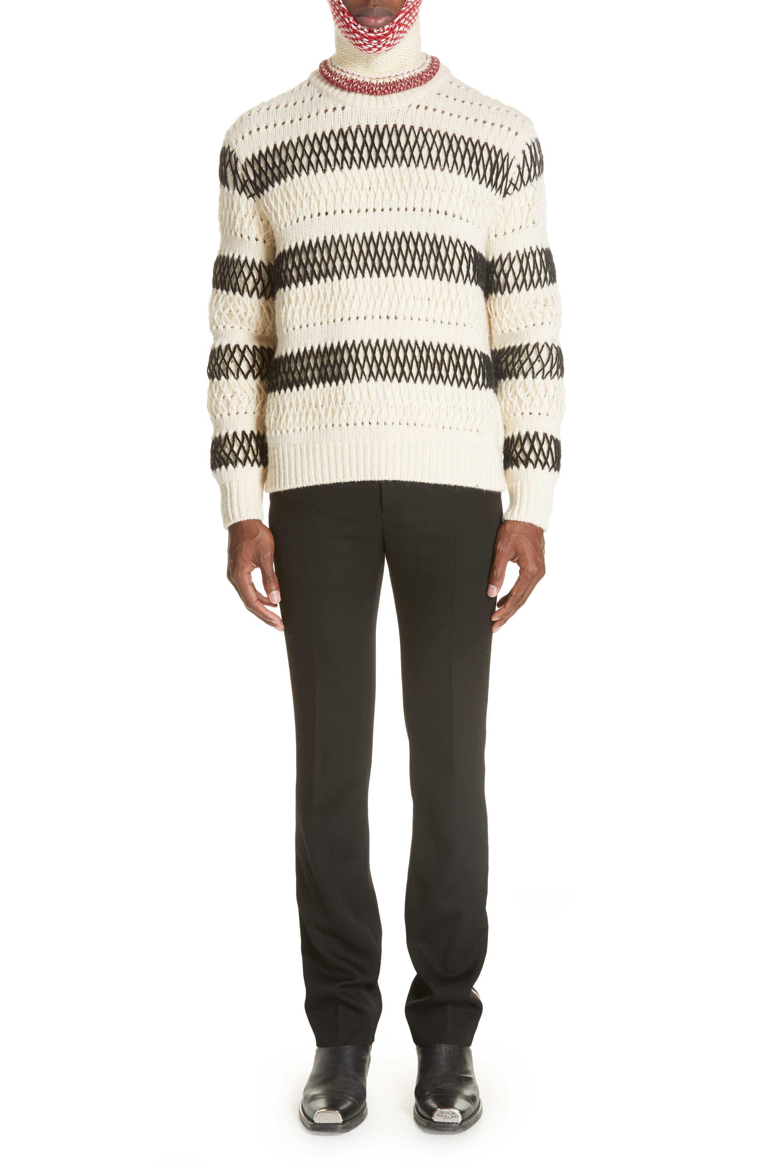 CALVIN KLEIN 205W39NYC,                             Uniform Stripe Trousers,                             Alternate thumbnail 7, color,                             060
