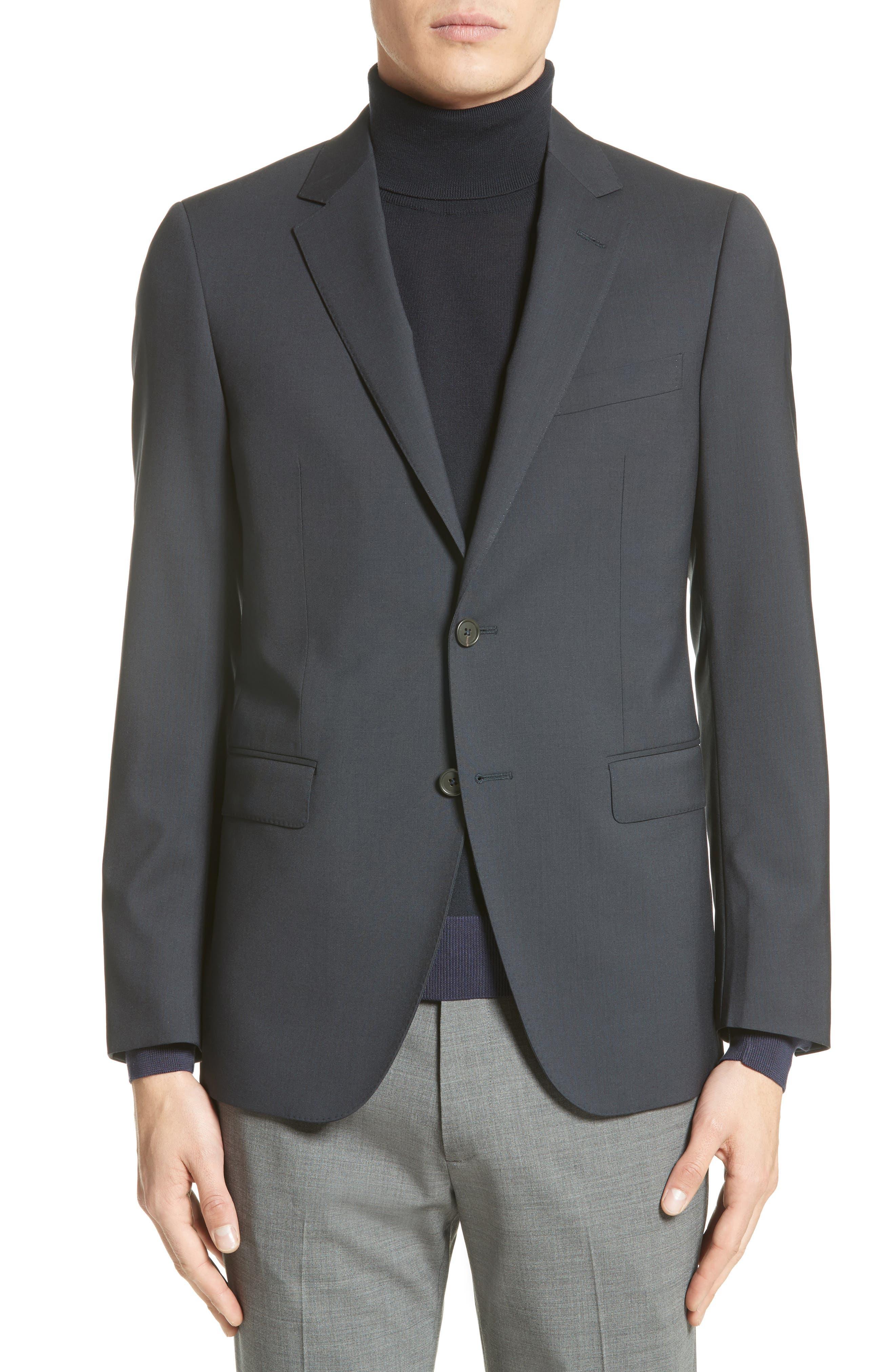 Tropical Wool Suit Jacket,                             Alternate thumbnail 2, color,                             NAVY
