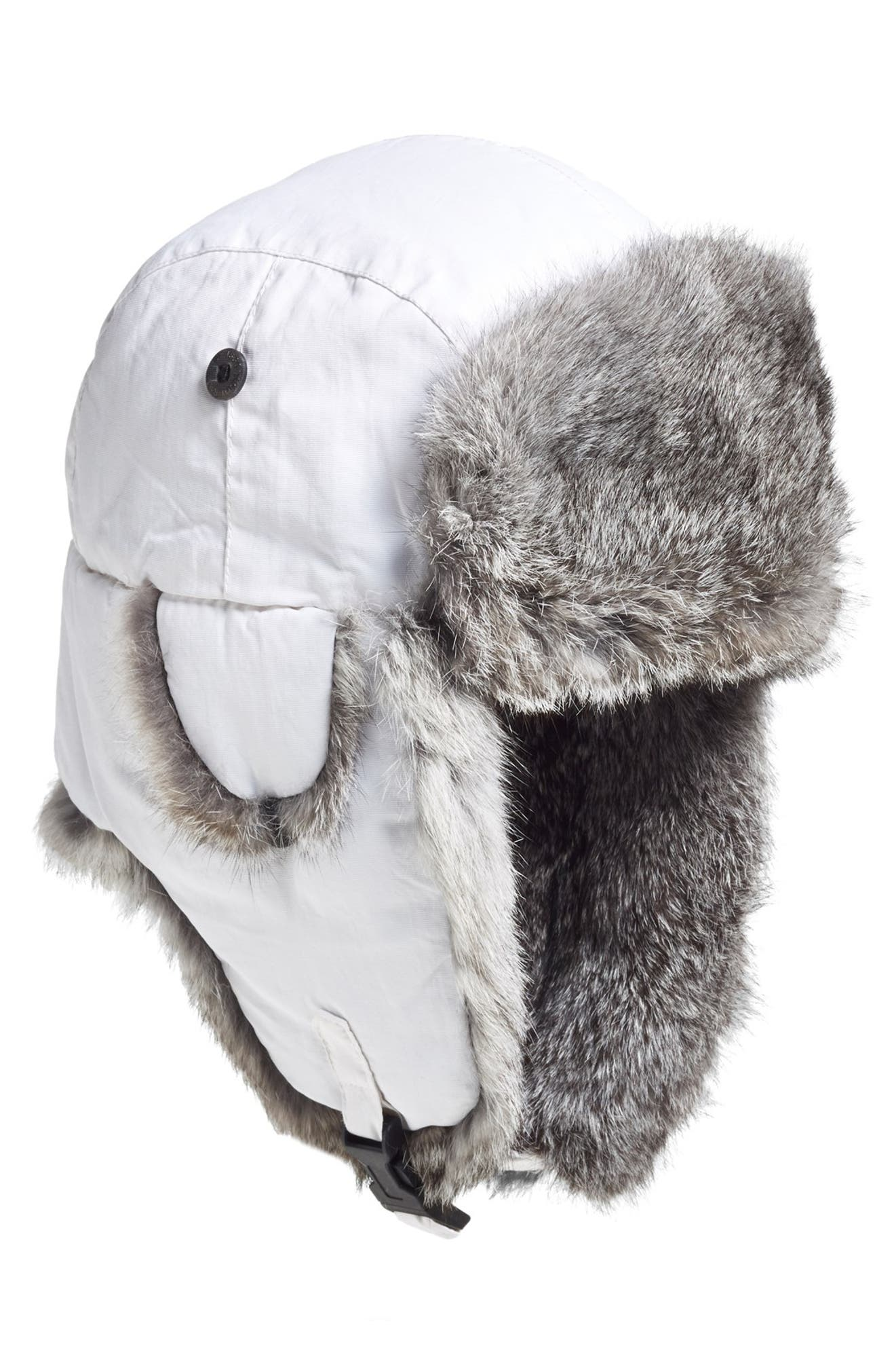 1035a30c6d9 Woolrich  Supplex  Genuine Rabbit Fur Lined Aviator Cap