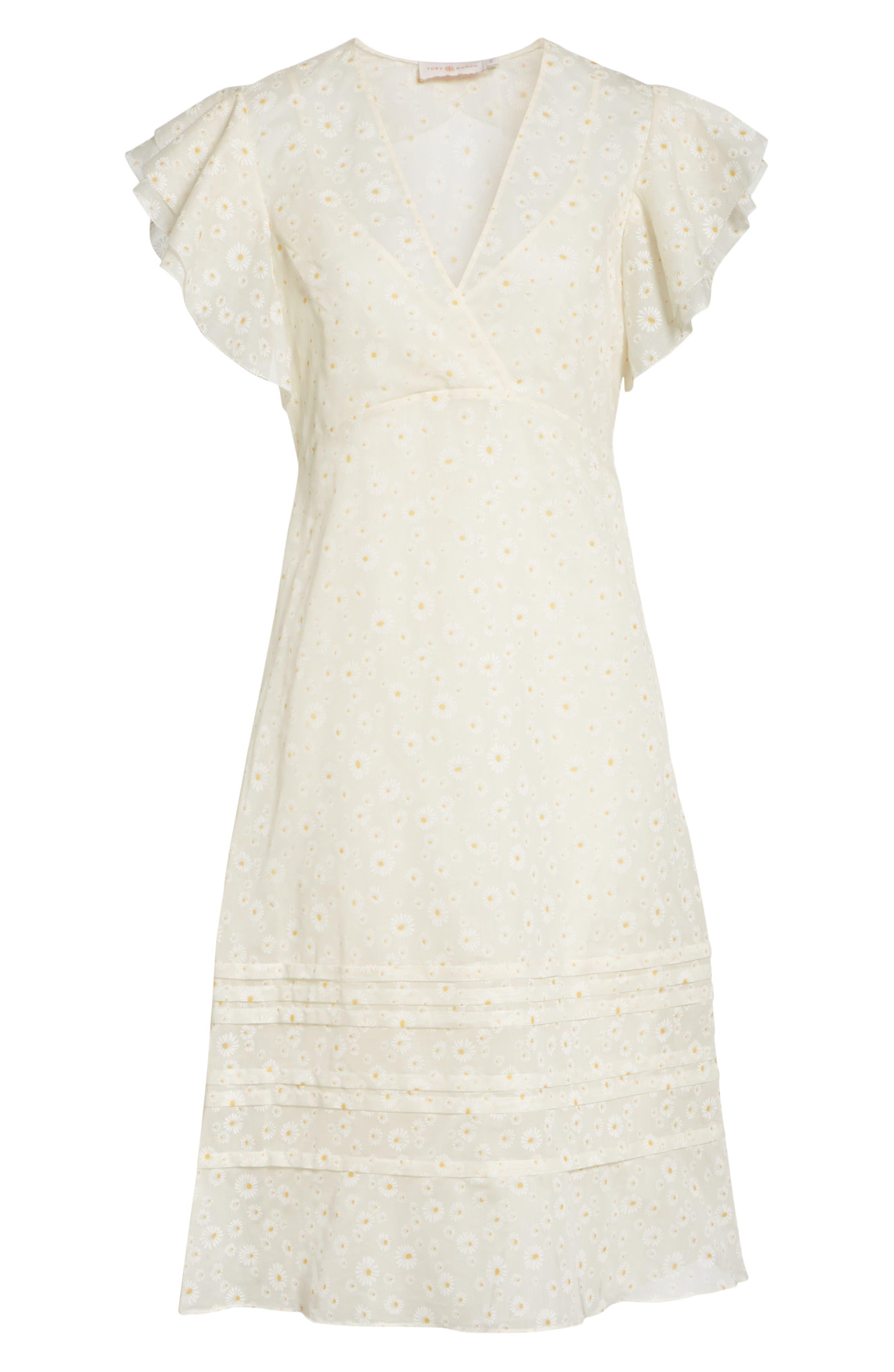 Susanna Flutter Sleeve Midi Dress,                             Alternate thumbnail 6, color,                             160