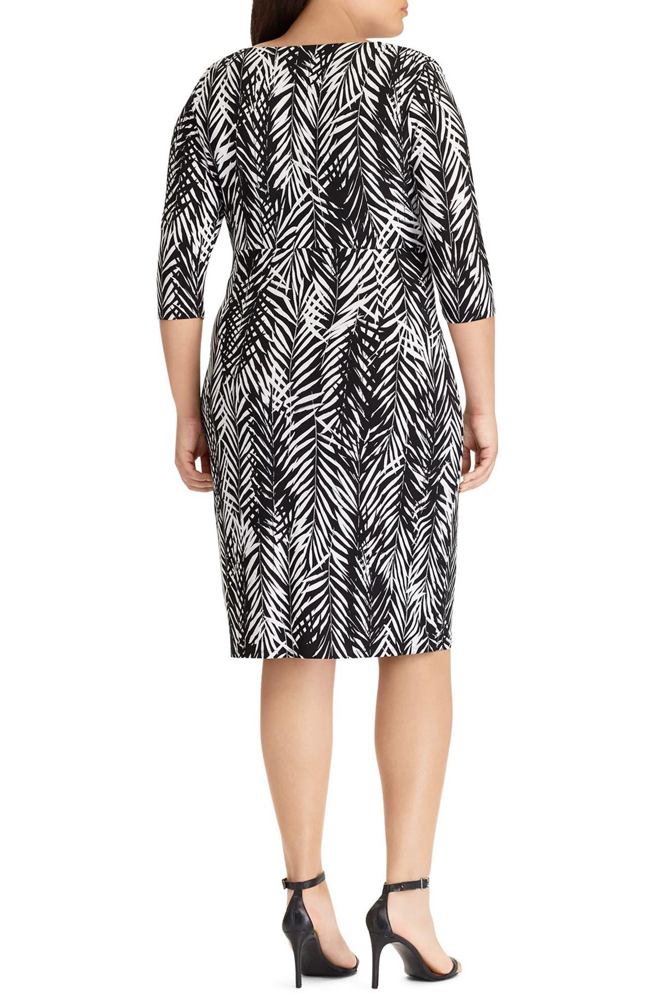 Zebra Twigs Sheath Dress,                             Alternate thumbnail 2, color,                             001