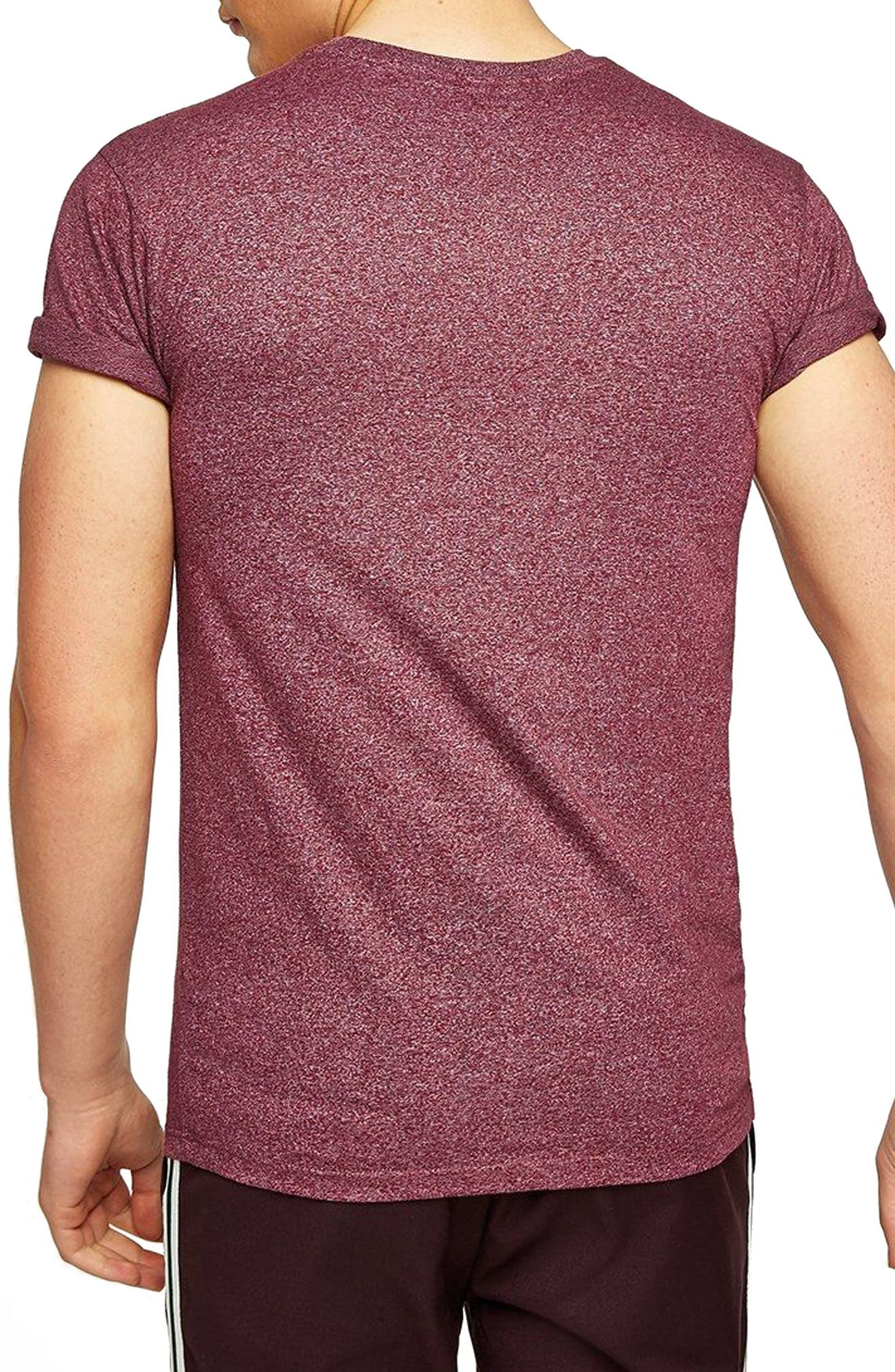 Muscle Fit Flecked T-Shirt,                             Alternate thumbnail 2, color,