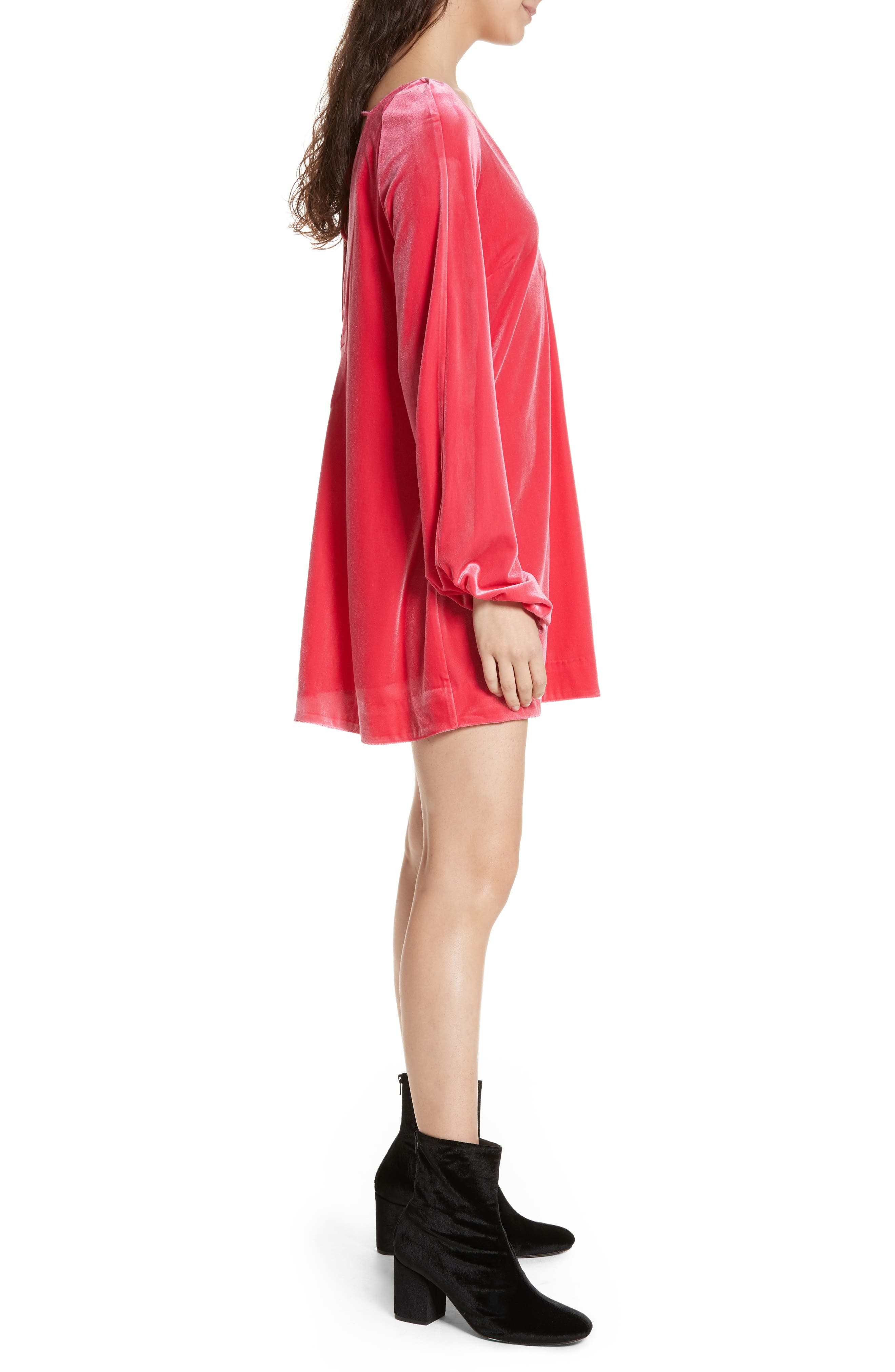 Misha Velvet Minidress,                             Alternate thumbnail 8, color,