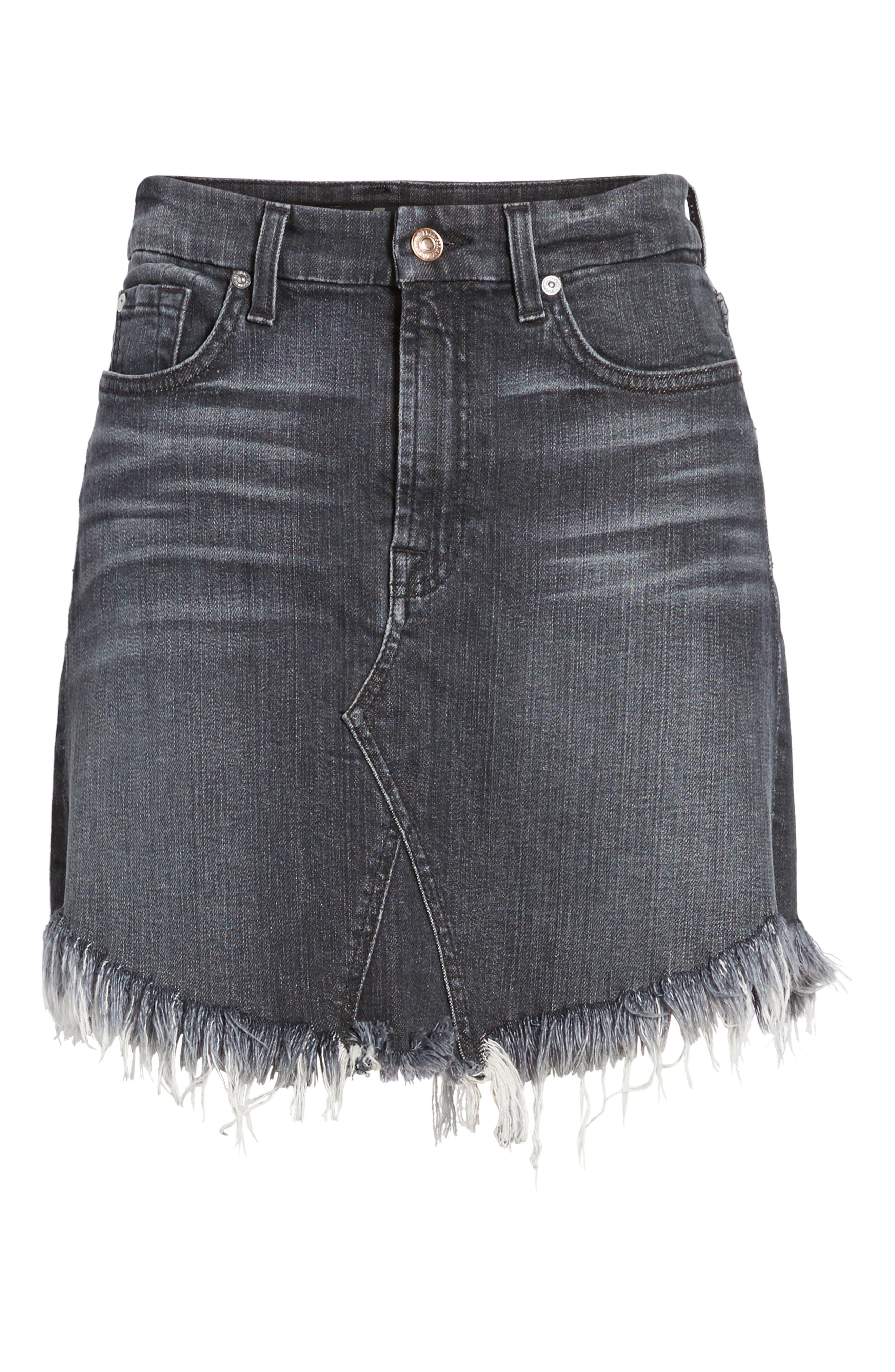 Denim Miniskirt,                             Alternate thumbnail 6, color,                             004
