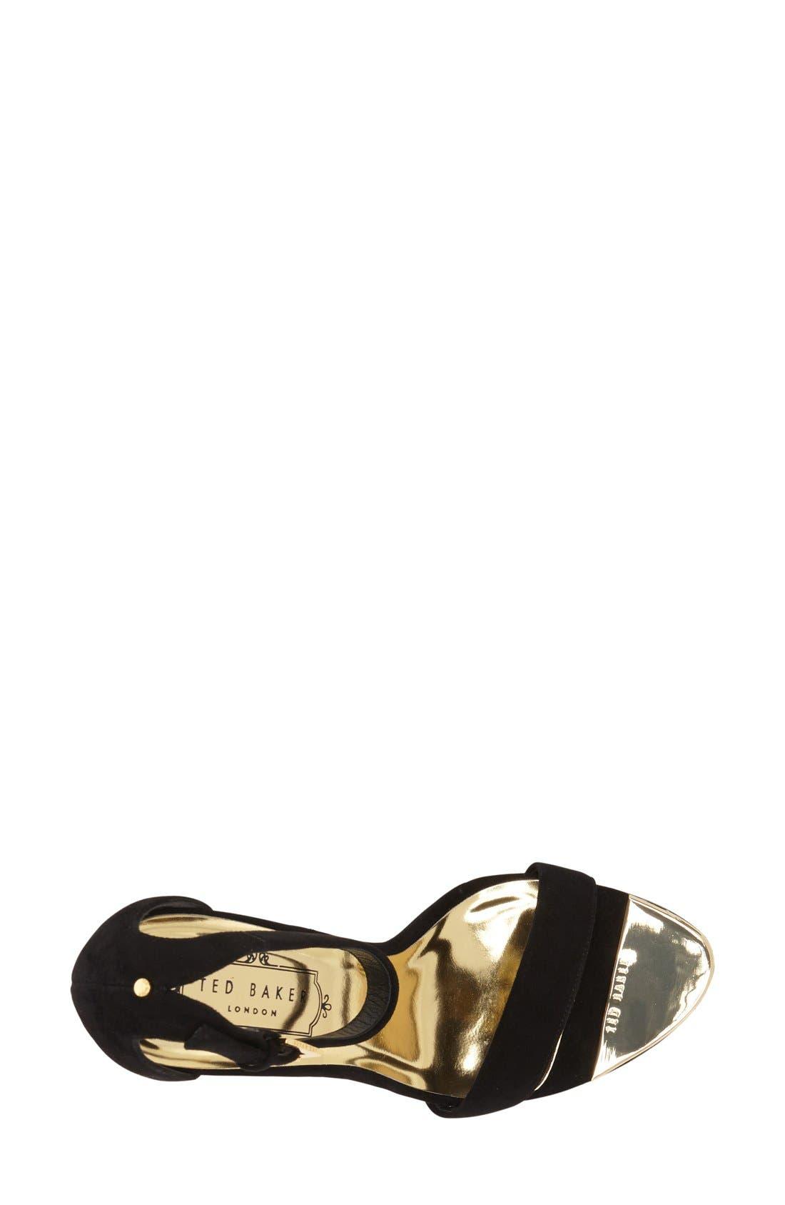 'Juliennas' Leather Sandal,                             Alternate thumbnail 4, color,                             010