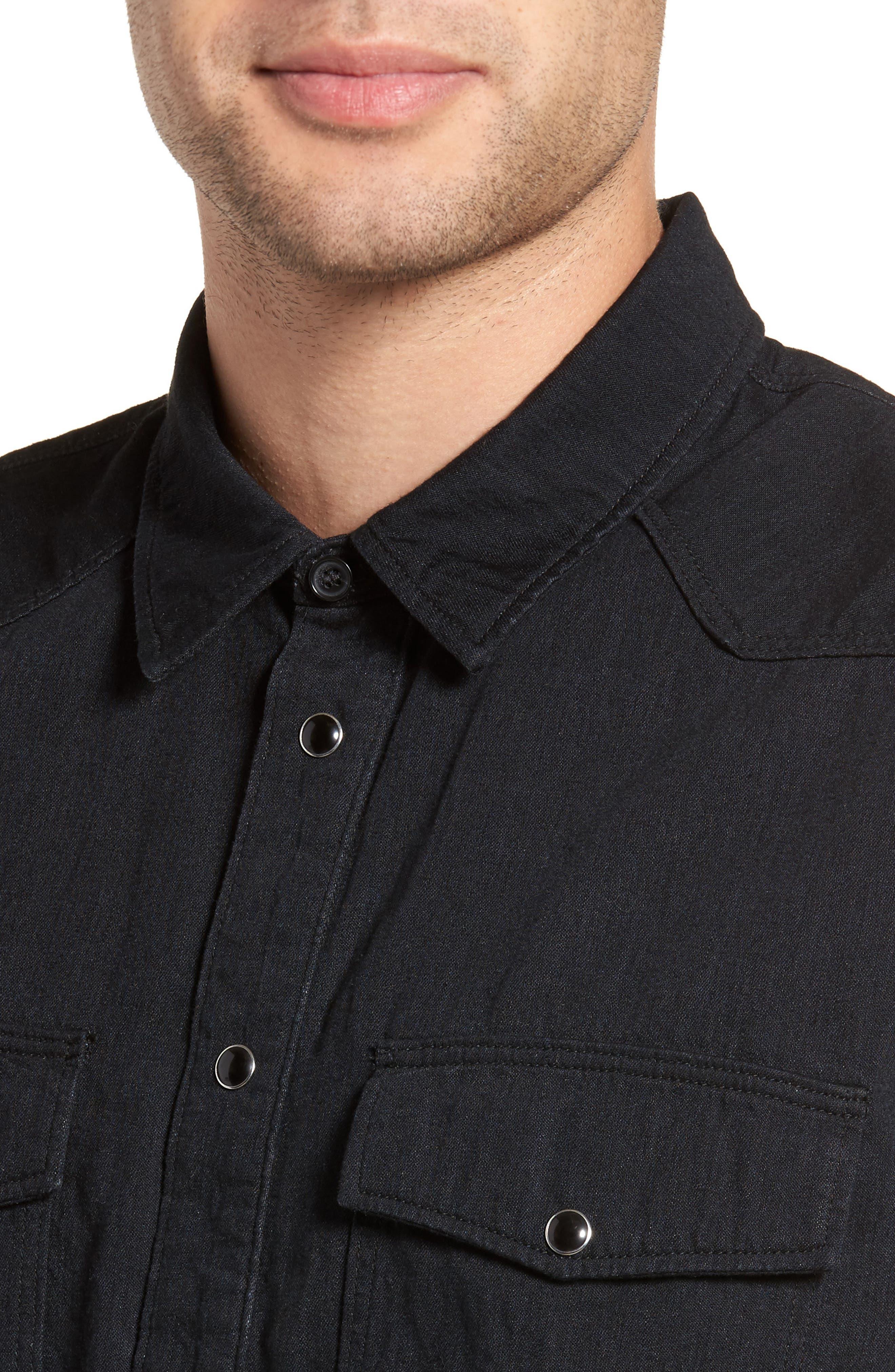 Western Chambray Sport Shirt,                             Alternate thumbnail 4, color,                             001