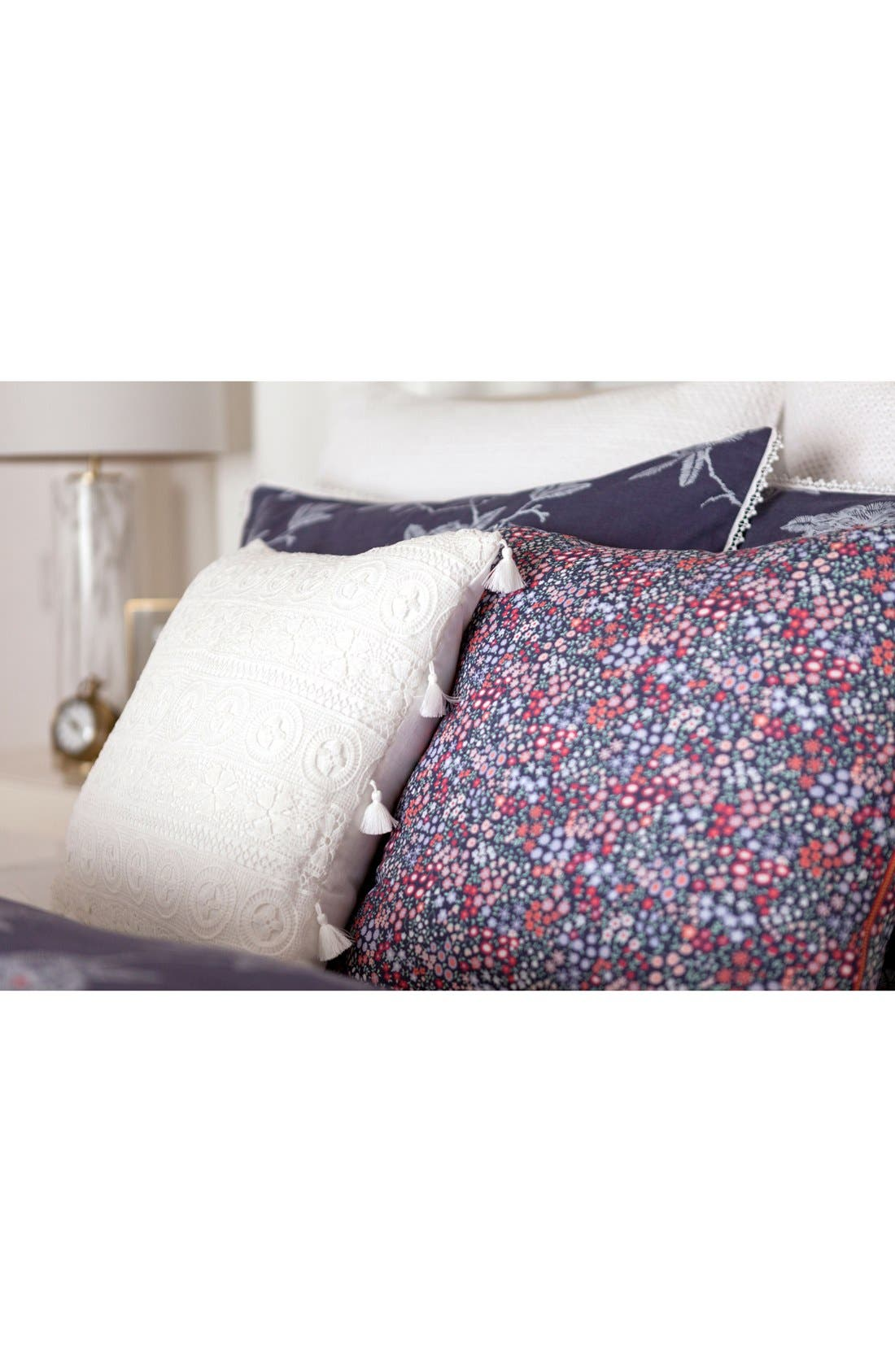 'Sketch' Floral Print Accent Pillow,                             Alternate thumbnail 3, color,                             600