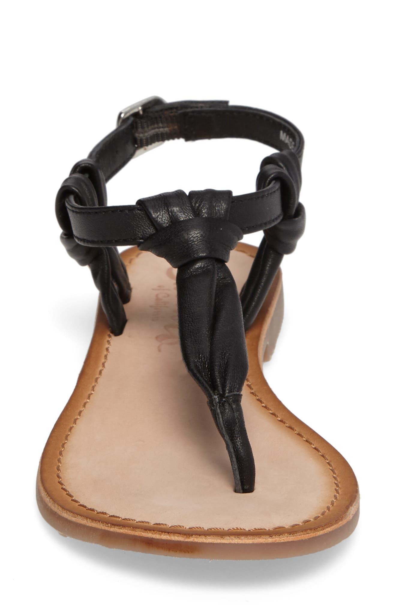 Azza T-Strap Sandal,                             Alternate thumbnail 4, color,                             001