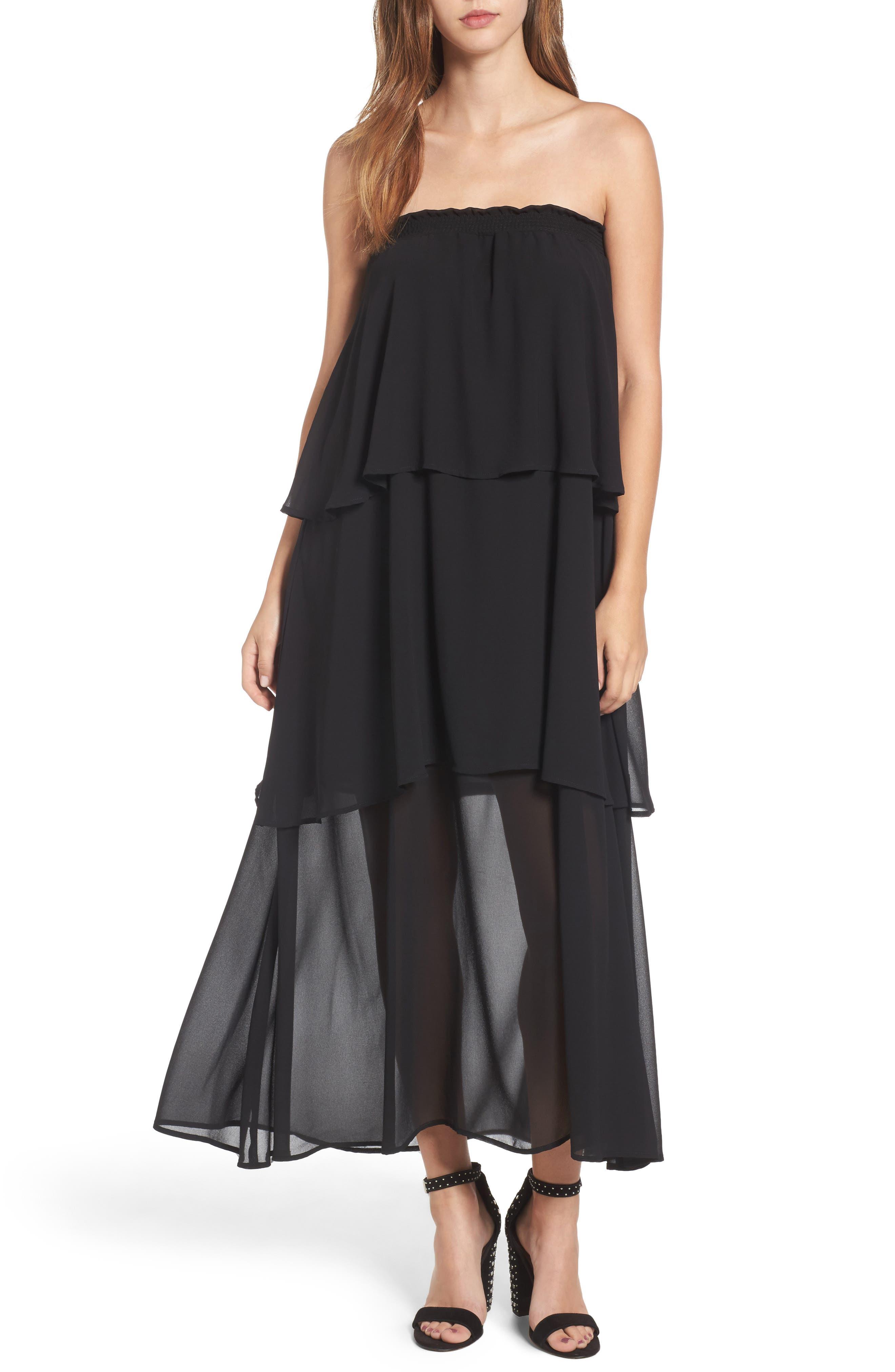 Karla Convertible Strapless Dress,                             Main thumbnail 1, color,
