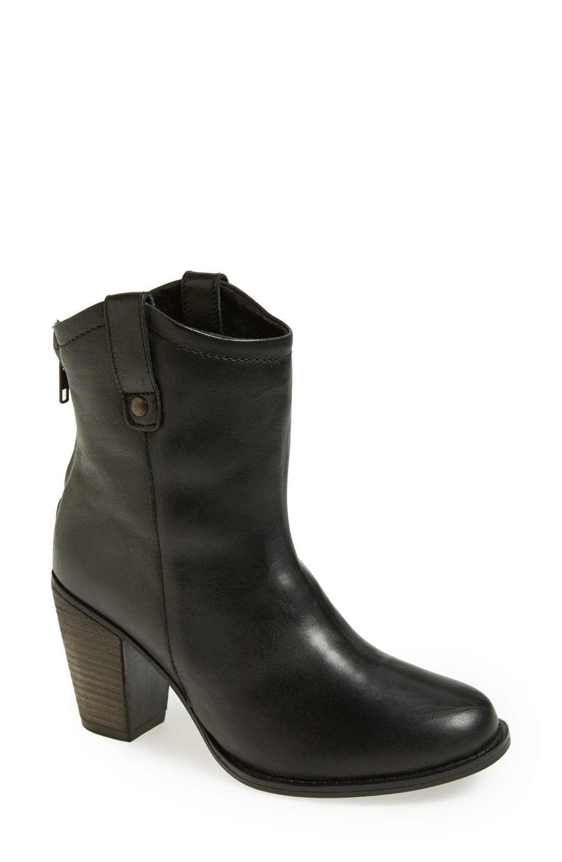 'Taralyn' Leather Boot,                         Main,                         color, 002