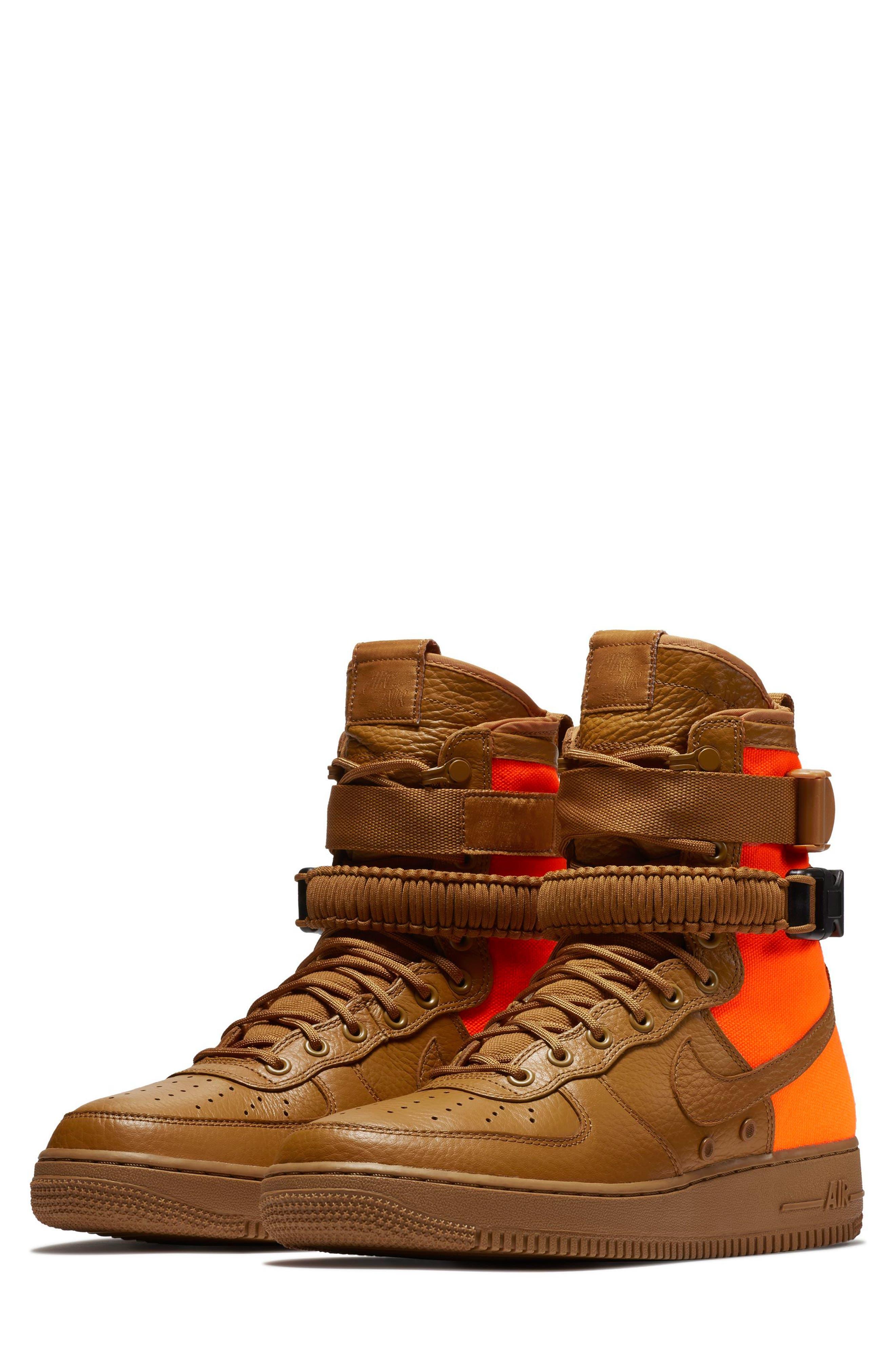 SF Air Force 1 QS High Top Sneaker,                         Main,                         color, 200