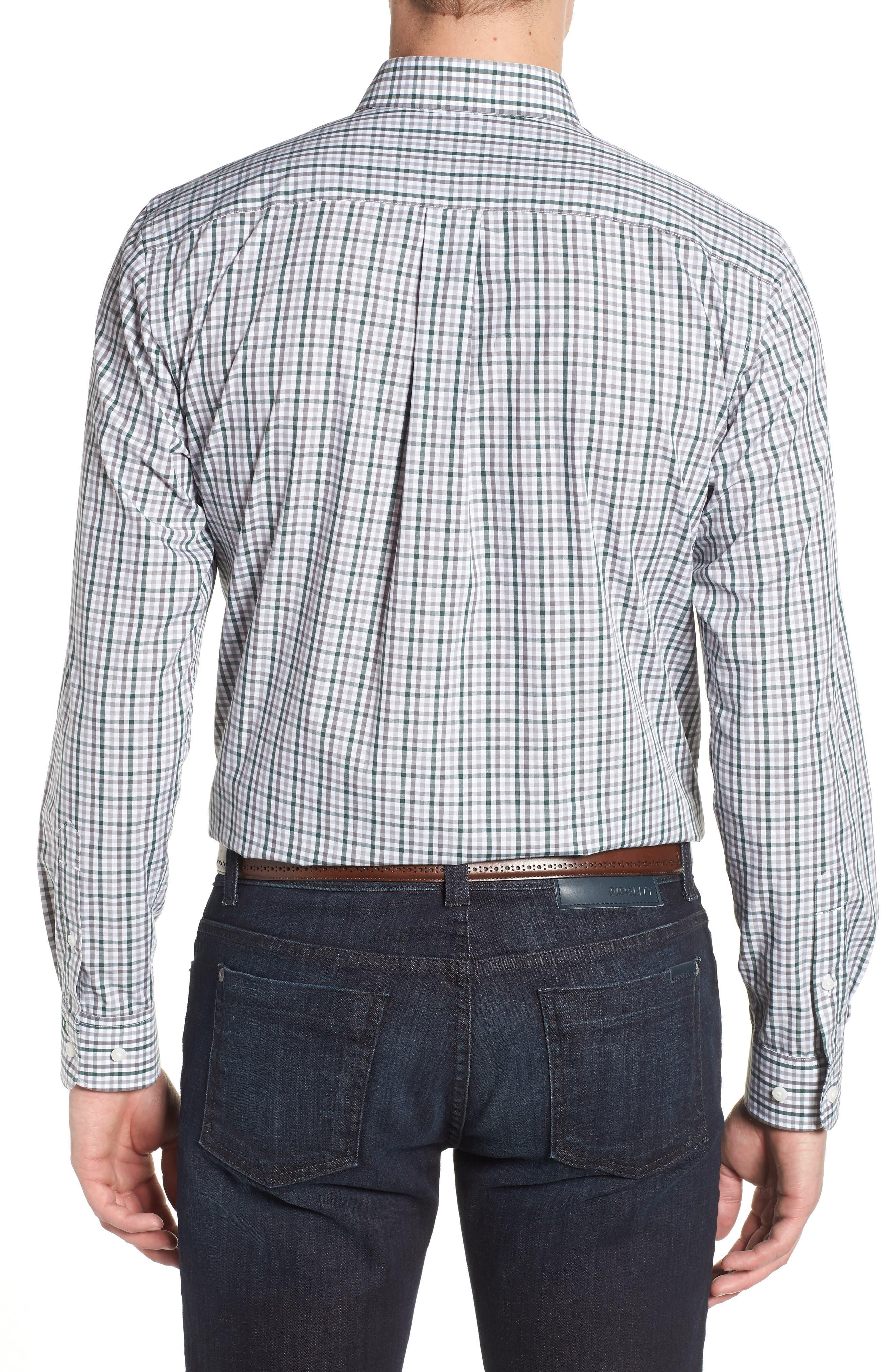 Green Bay Packers - Gilman Regular Fit Plaid Sport Shirt,                             Alternate thumbnail 2, color,                             HUNTER