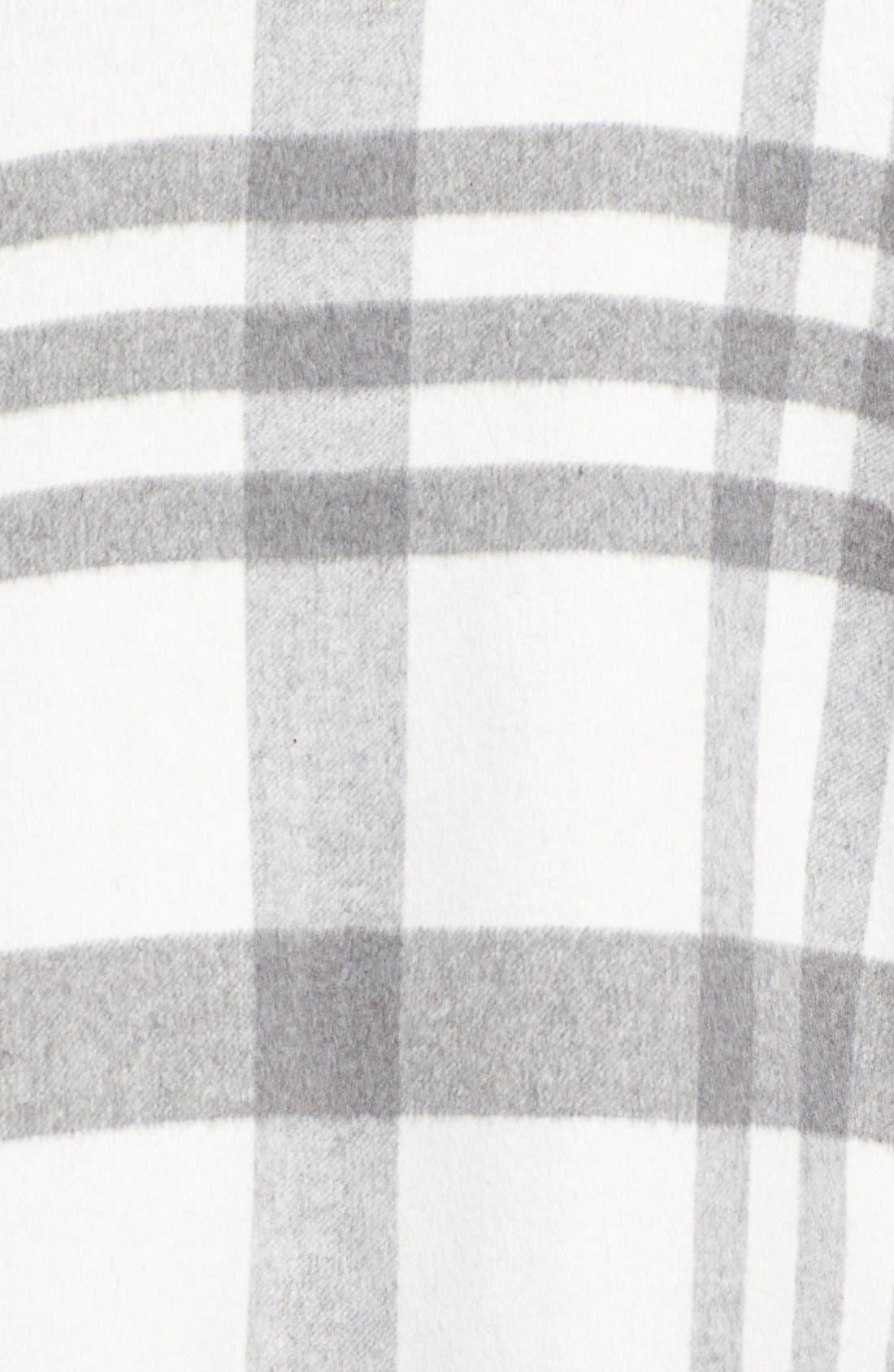 Zip Front Plaid Cape,                             Alternate thumbnail 5, color,                             169