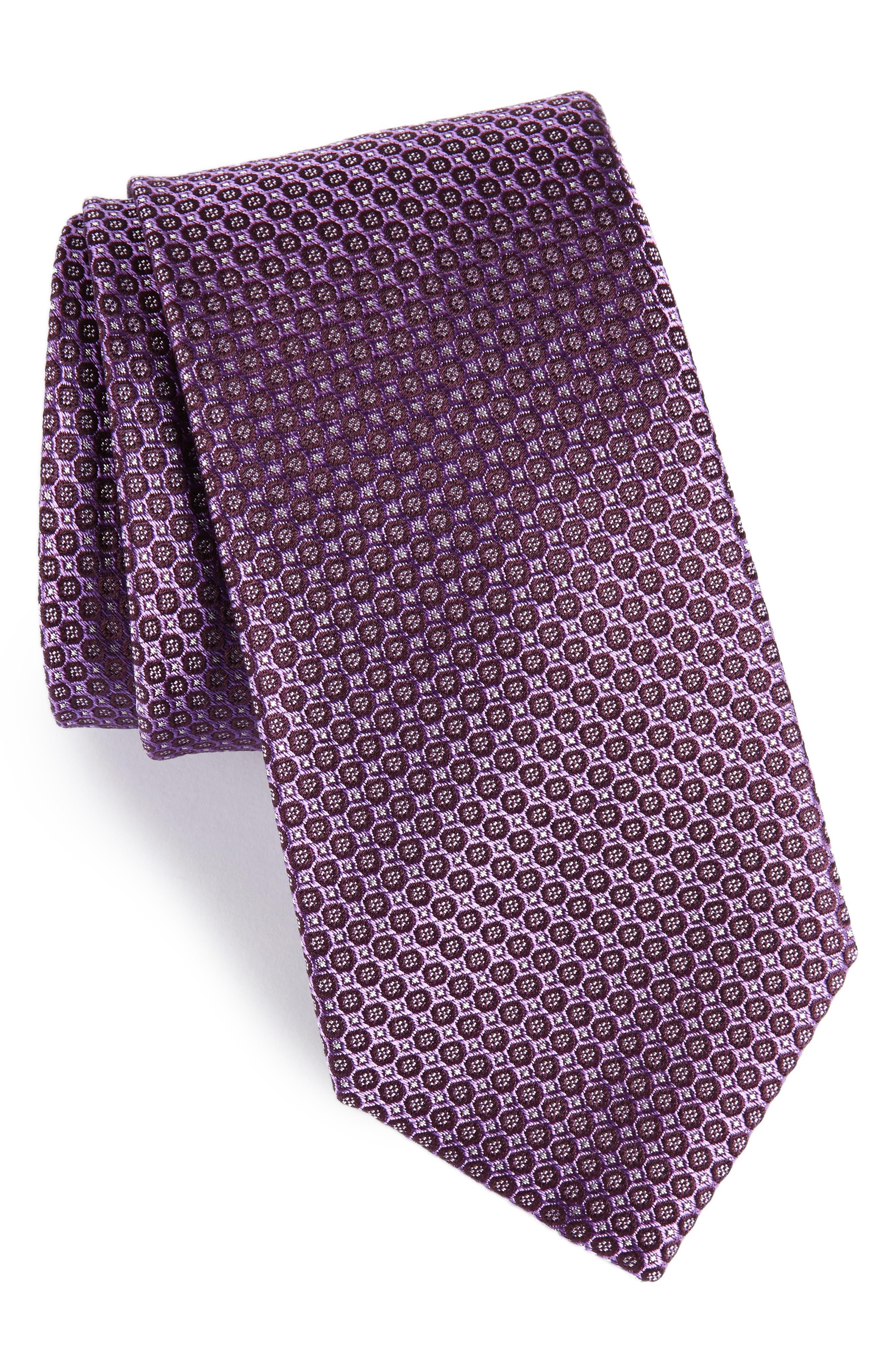 Park Ave Solid Silk Tie,                             Main thumbnail 3, color,