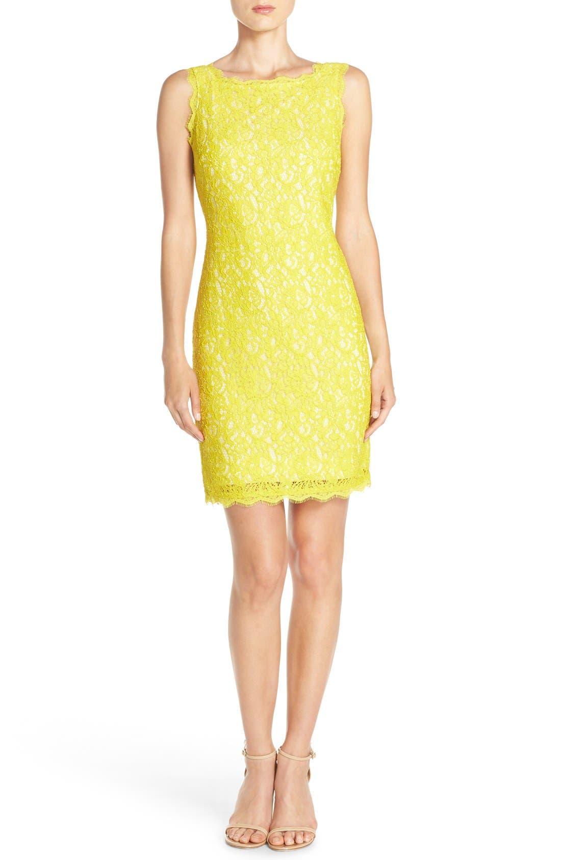 Boatneck Lace Sheath Dress,                             Alternate thumbnail 61, color,