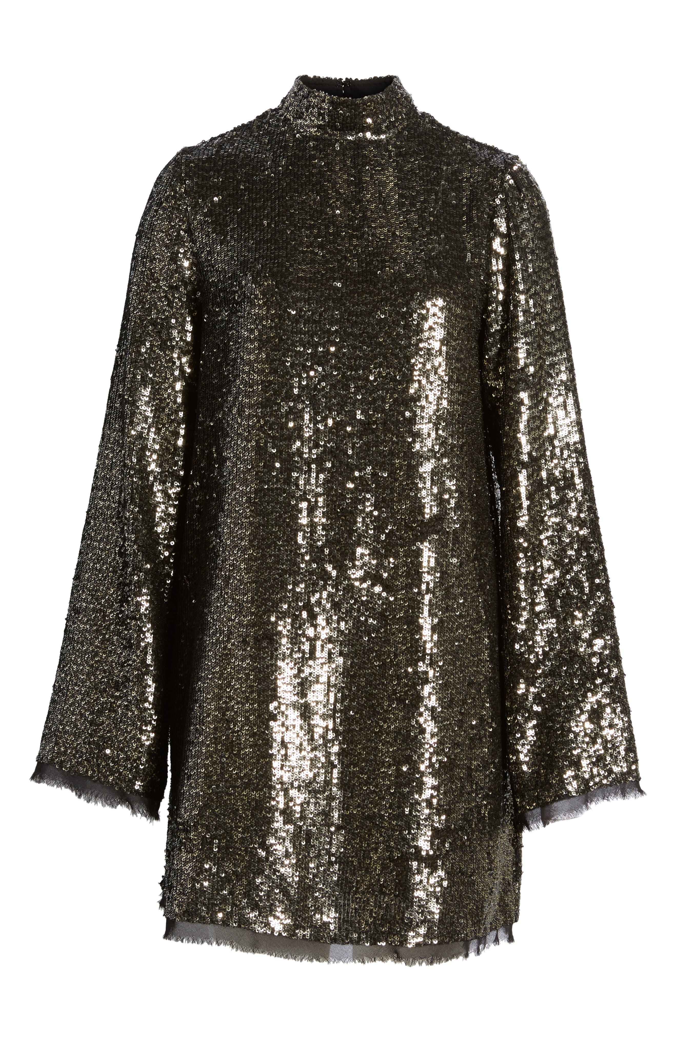 Sequin Shift Dress,                             Alternate thumbnail 6, color,                             042