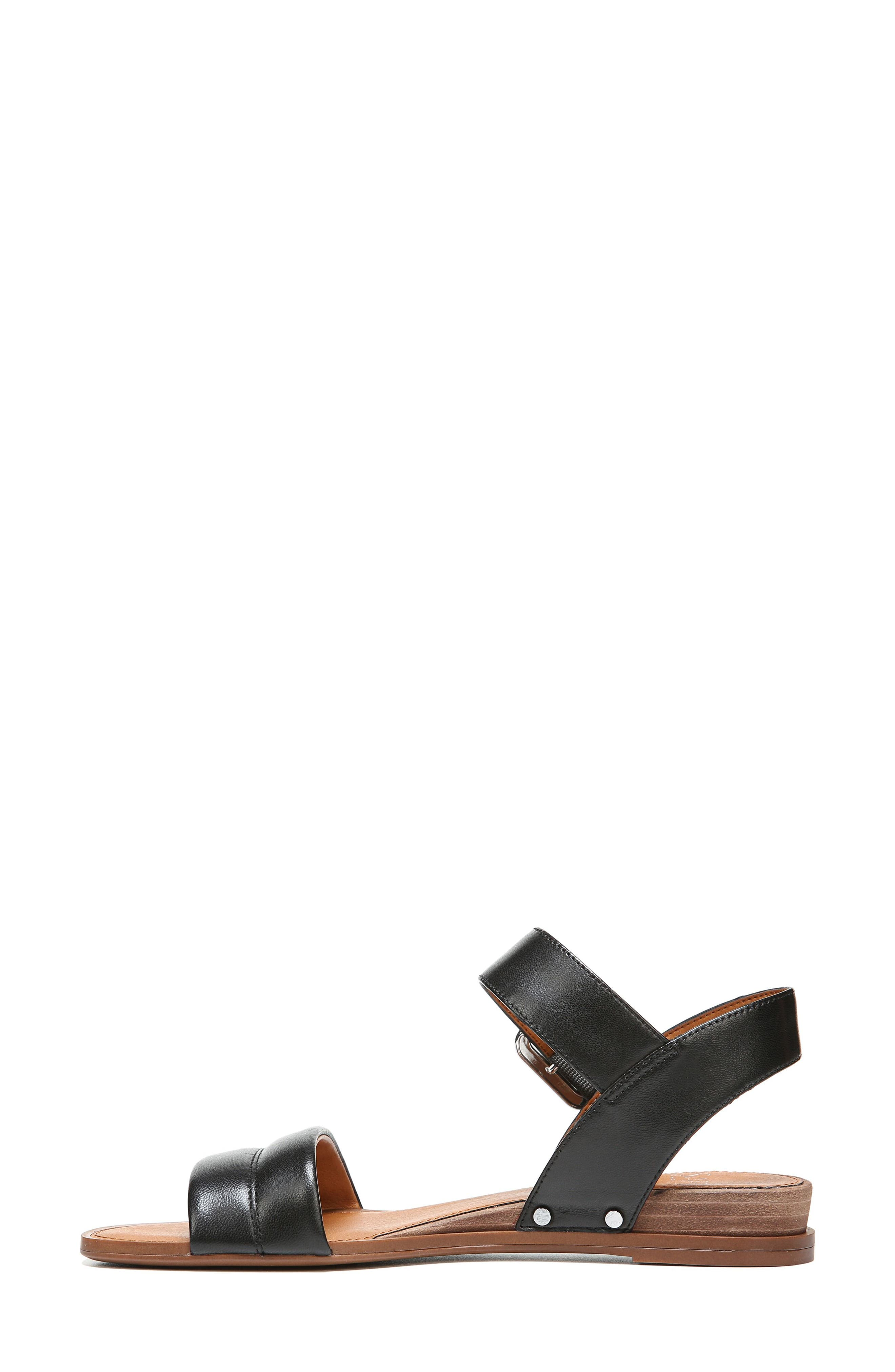 Patterson Low Wedge Sandal,                             Alternate thumbnail 3, color,                             001