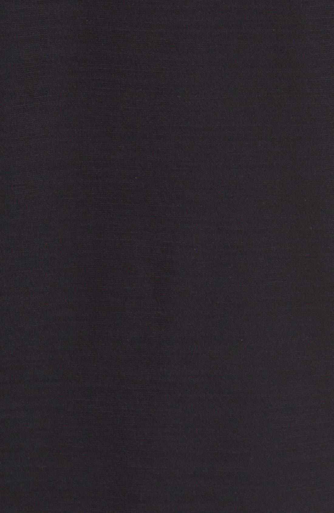 Slub Pima Cotton T-Shirt,                             Alternate thumbnail 5, color,                             BLACK
